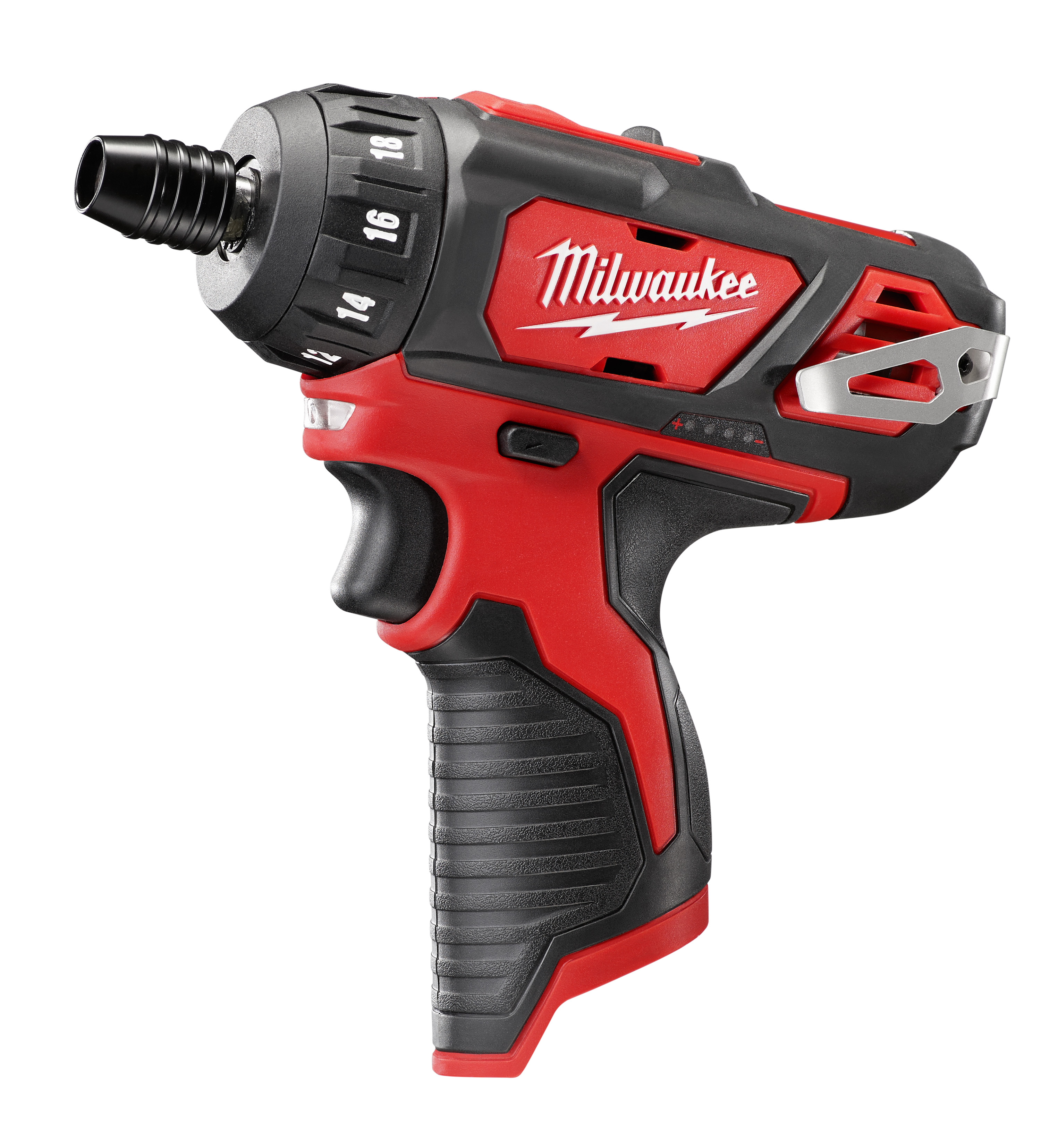Milwaukee® M12™ 2406-20 Compact Lightweight Cordless Screwdriver, 1/4 in Chuck, 12 VDC, 275 in-lb Torque, Lithium-Ion Battery