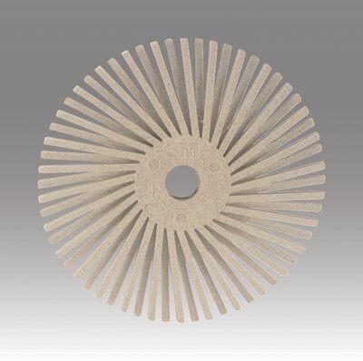 3M™ Scotch-Brite™ 24278 Radial Bristle Disc Brush, 3 in Dia Brush, No Hole Arbor Hole, 120 Grit, Fine Grade, Ceramic Fill