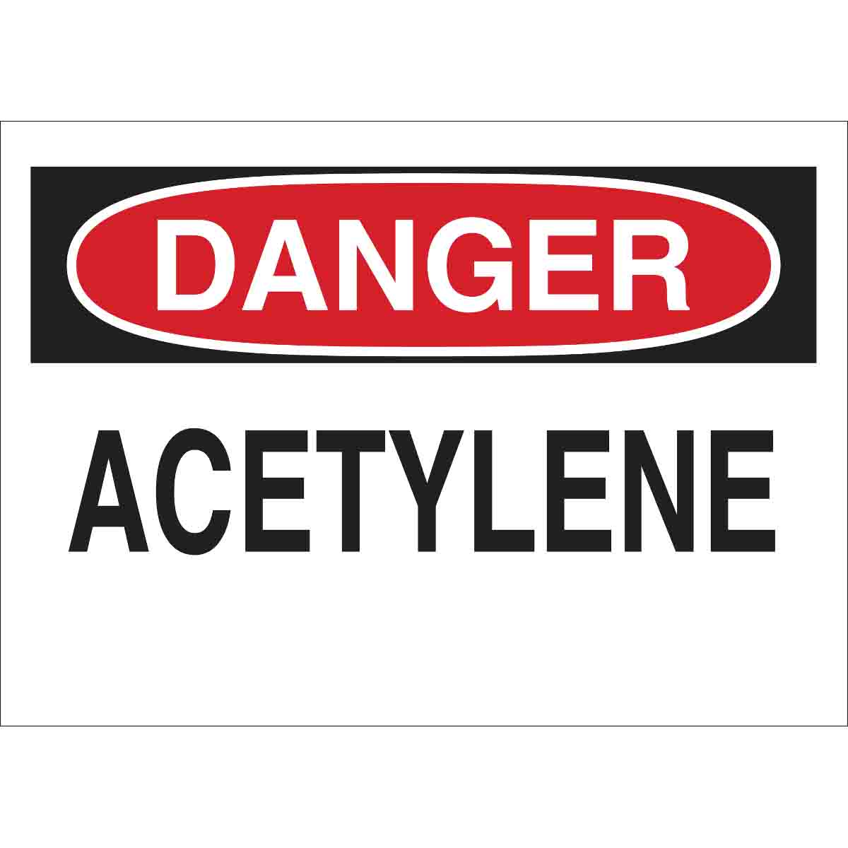 Brady® 22292 Rectangular Chemical and Hazardous Material Sign, Text, B-401 Polystyrene, Corner Holes Mount, 7 in H x 10 in W, English