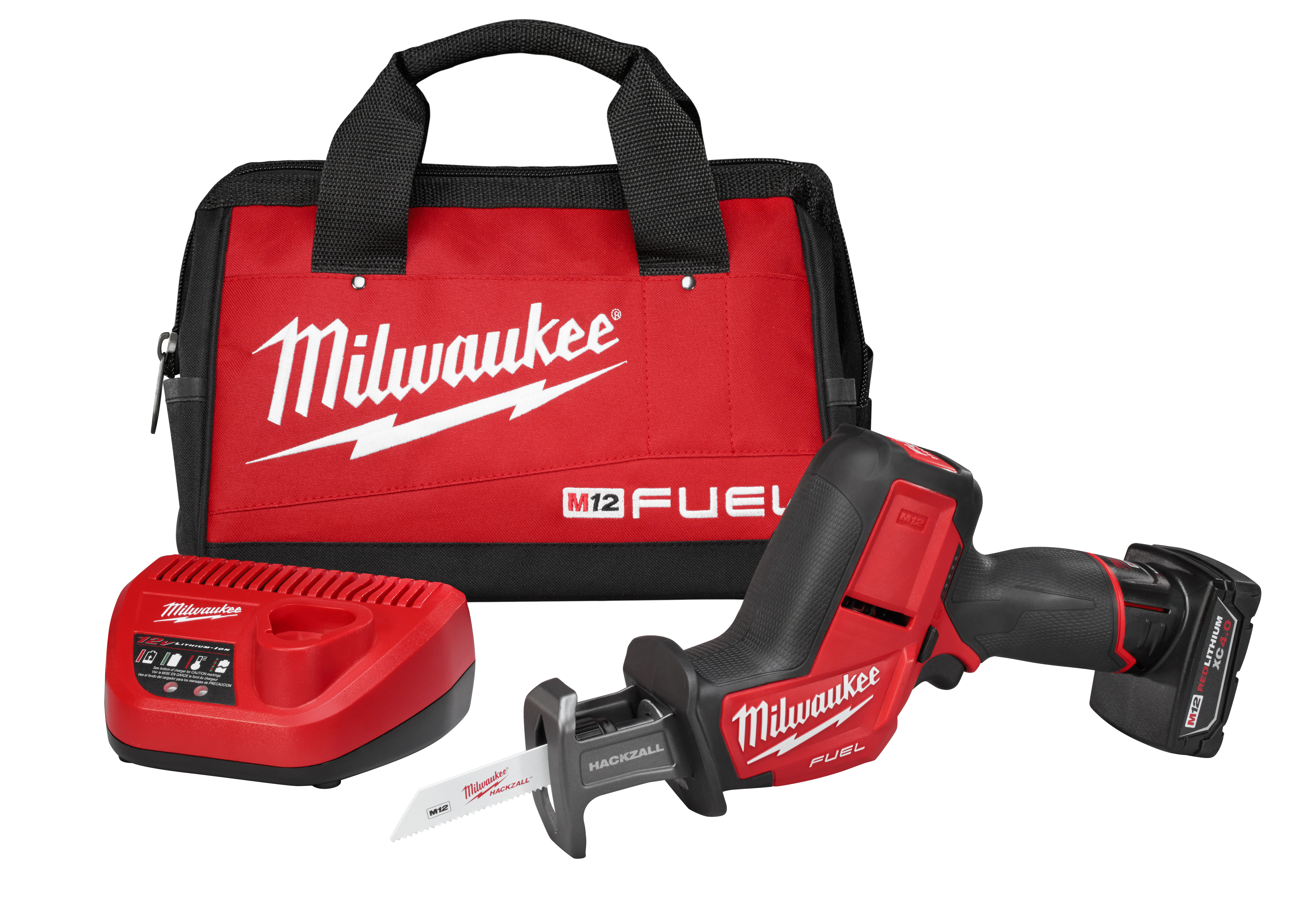 Milwaukee® M12™ FUEL™ 2520-21XC Cordless Reciprocating Saw Kit, 5/8 in L Stroke, 3000 spm, Straight Cut, 12 VDC, 13-1/4 in OAL
