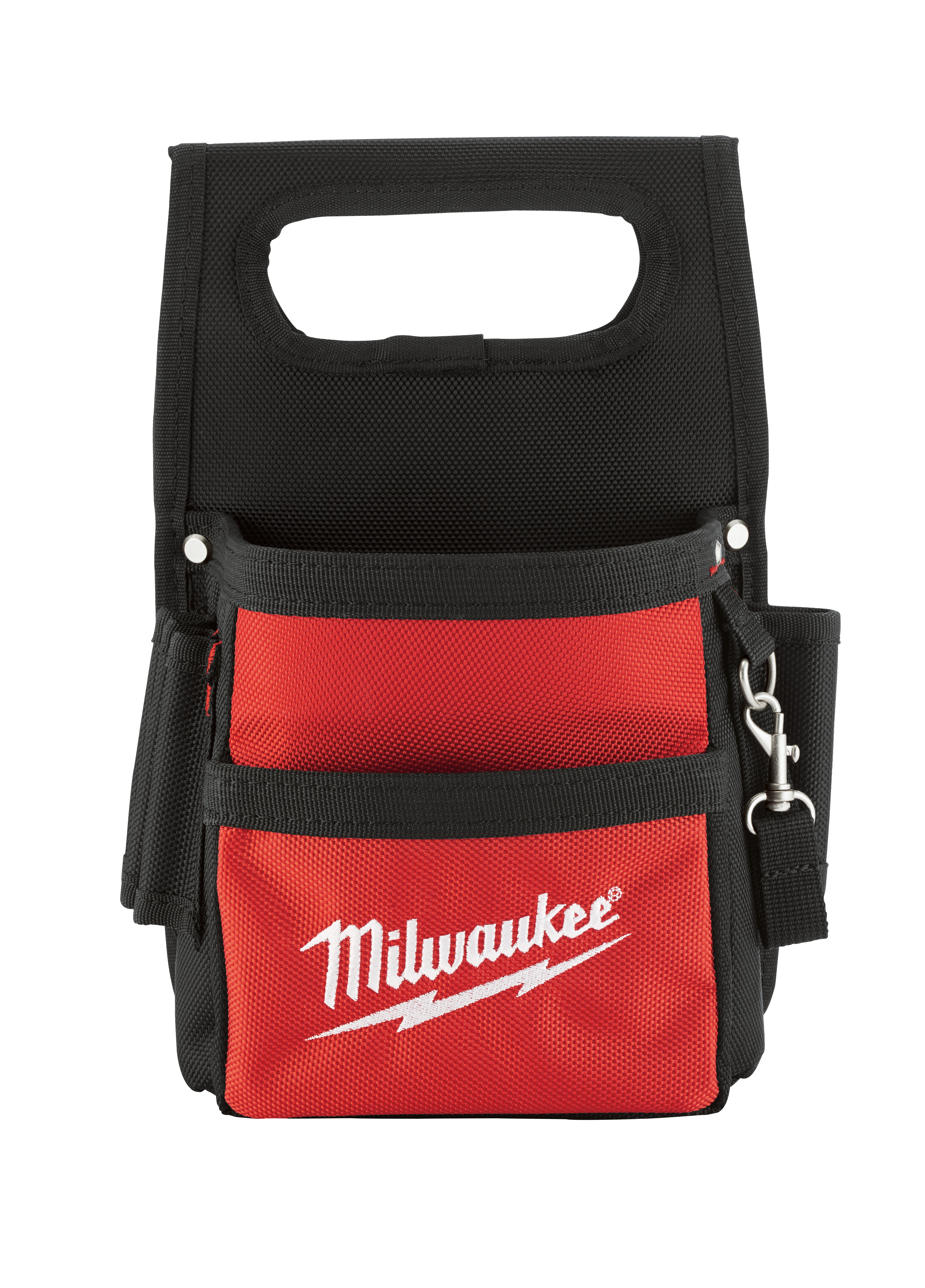 Milwaukee® 48-22-8111 Compact Electrician's Work Pouch, Ballistic Nylon, Black/Red