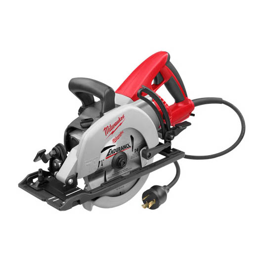 Milwaukee® 6577-20 Worm Drive Circular Saw, 7-1/4 in Dia Blade, 5/8 in Arbor/Shank, 1-25/32 in at 45 deg, 1-9/16 in at 50 deg, 2-7/16 in at 90 deg Cutting, Left Blade Side