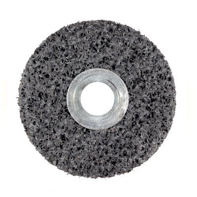 3M™ 01003 Clean and Strip Unitized Wheel, 1 in Dia Wheel, 3/16 in Center Hole, 1 in W Face, Extra Coarse Grade, Silicon Carbide Abrasive
