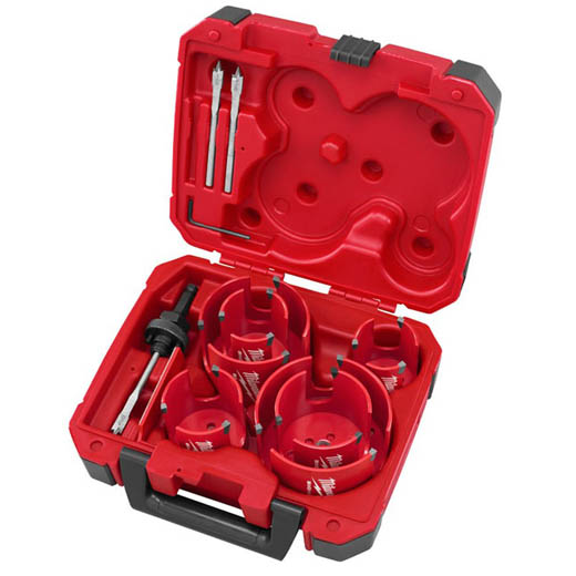 Milwaukee® 49-56-9085 Big Hawg® Hole Cutter Kit, 10 Pieces, For Use With 49-56-7210, 49-56-7240, 49-56-7250 and 49-56-9100 Quick-Change Arbor, HSS