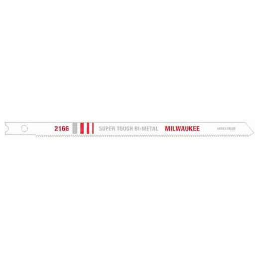 Milwaukee® 48-42-2166 Jig Saw Blade, 5 in L x 9/32 in W, 24, Bi-Metal Cutting Edge, Bi-Metal Body