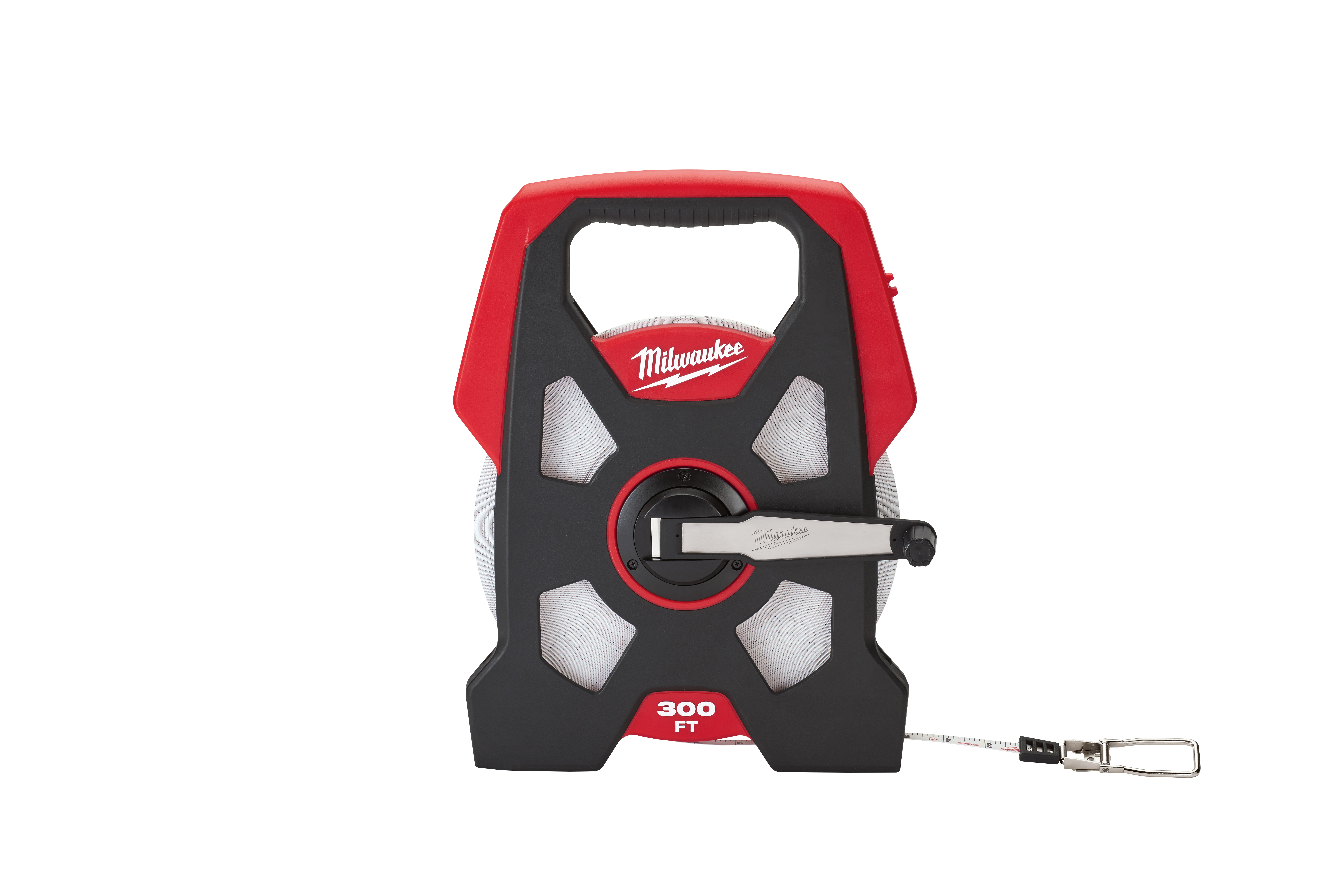 Milwaukee® 48-22-5230 Long Reel Measuring Tape, 300 ft L x 3/8 in W Blade, Steel Blade, Imperial Measuring System