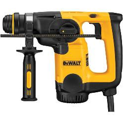 DeWALT® D25313K Rotary Hammer Kit, 1 in SDS Chuck, 0 to 4300 bpm, 0 to 1550 rpm No-Load, 2-1/2 in Max Core Bit Compatibility, 1 in Max Solid Bit Capacity, 11-1/2 in OAL