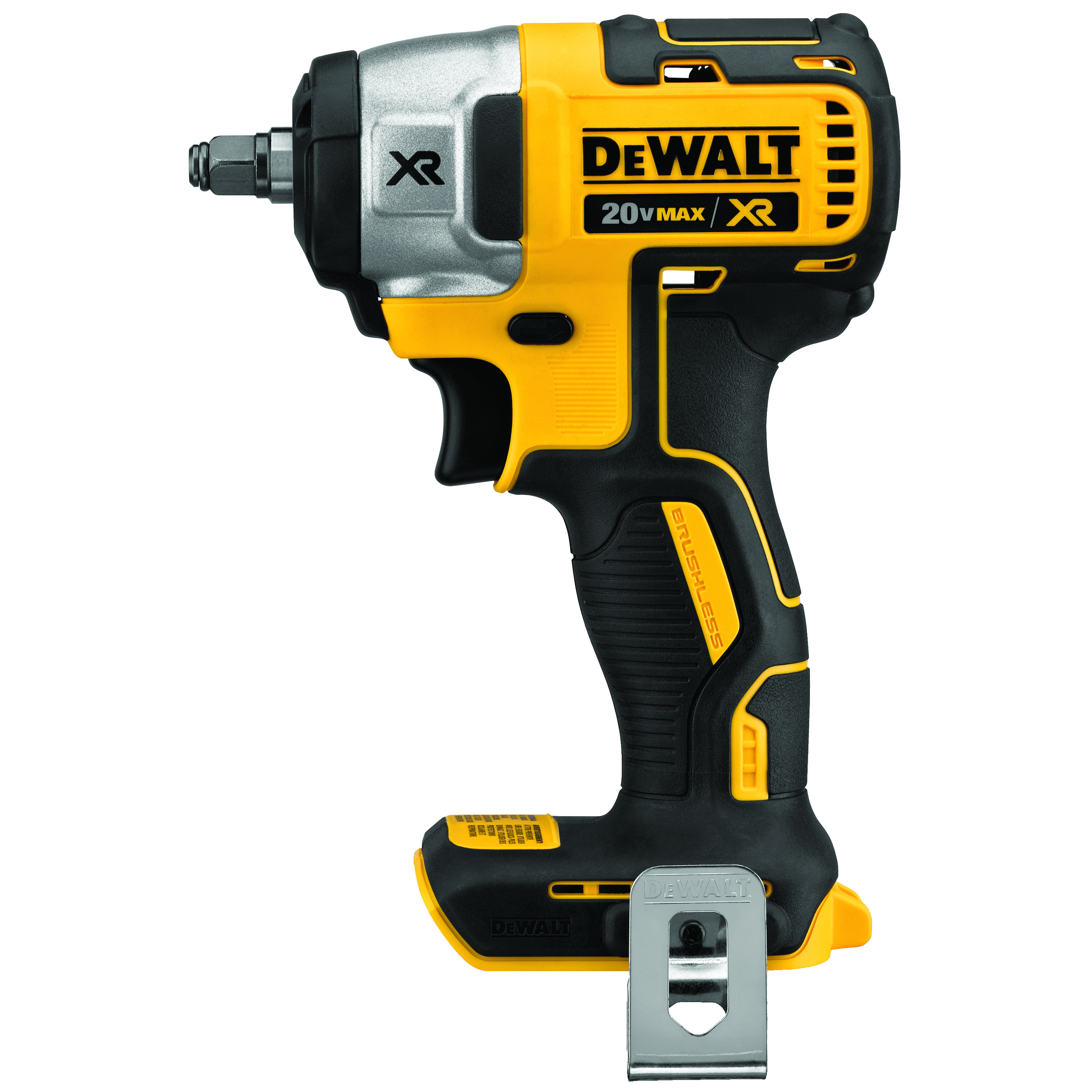 DeWALT® 20V MAX* MATRIX™ DCF890B Cordless Impact Wrench, 3/8 in Straight Drive, 2700 bpm, 150 ft-lb Torque, 20 V, 5-1/2 in OAL