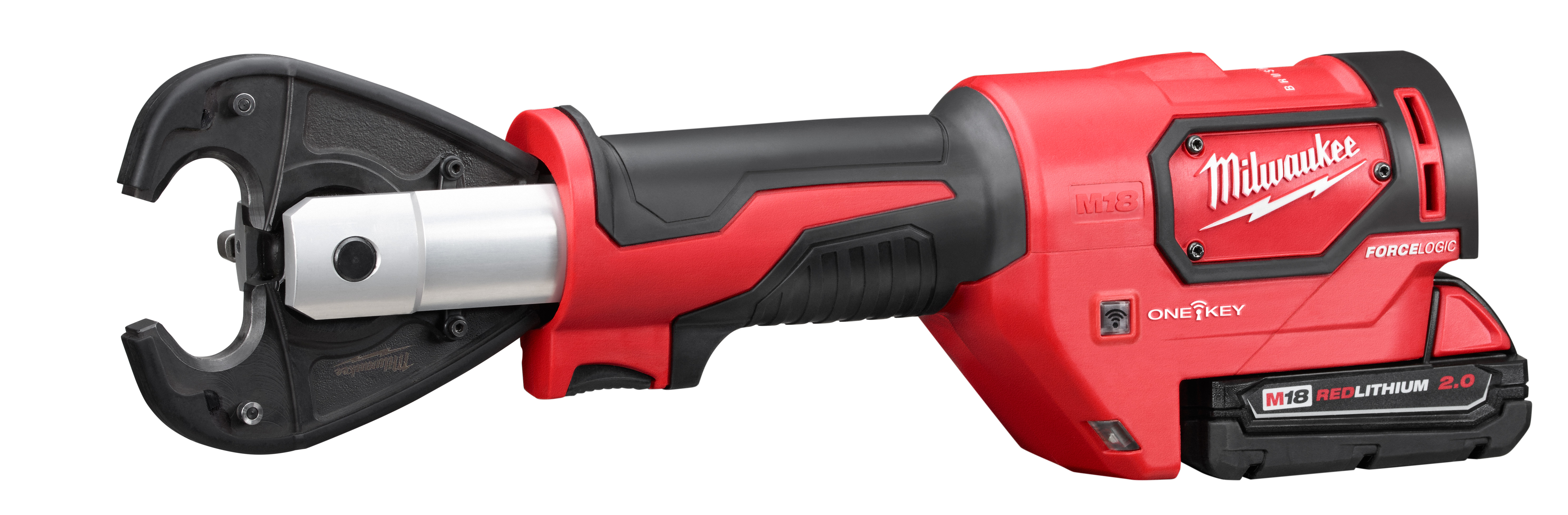 Milwaukee® M18™ FORCE LOGIC™ 2678-22 Utility Crimping Kit With D3 Grooves Snub Nose, 6 ton Crimping, 18 VDC, Lithium-Ion Battery