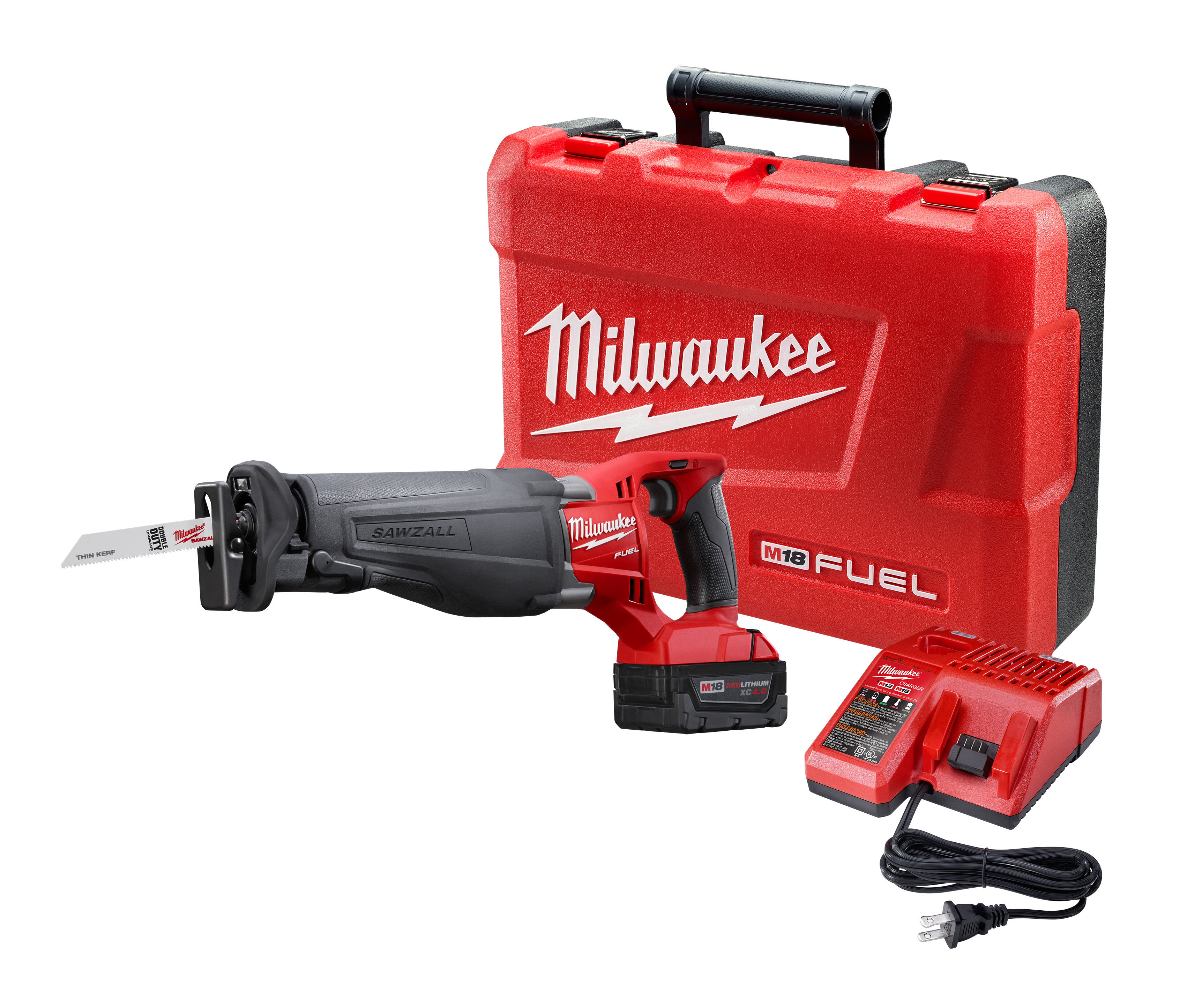 Milwaukee® M18 FUEL™ SAWZALL® 2720-21 Adjustable Shoe Cordless Reciprocating Saw Kit, 1-1/8 in L Stroke, 0 to 3000 spm, Straight Cut, 18 VDC, 18-1/2 in OAL