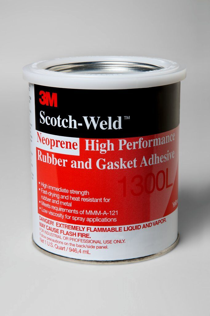 3M™ 1300L High Performance High Strength Rubber and Gasket Adhesive, 1 qt Pail