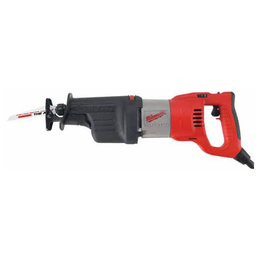 Milwaukee® 6523-21 Sawzall® Corded Double Insulated Reciprocating Saw, 1-1/4 in L, 0 to 3000 spm, 19 in OAL, Tool Only