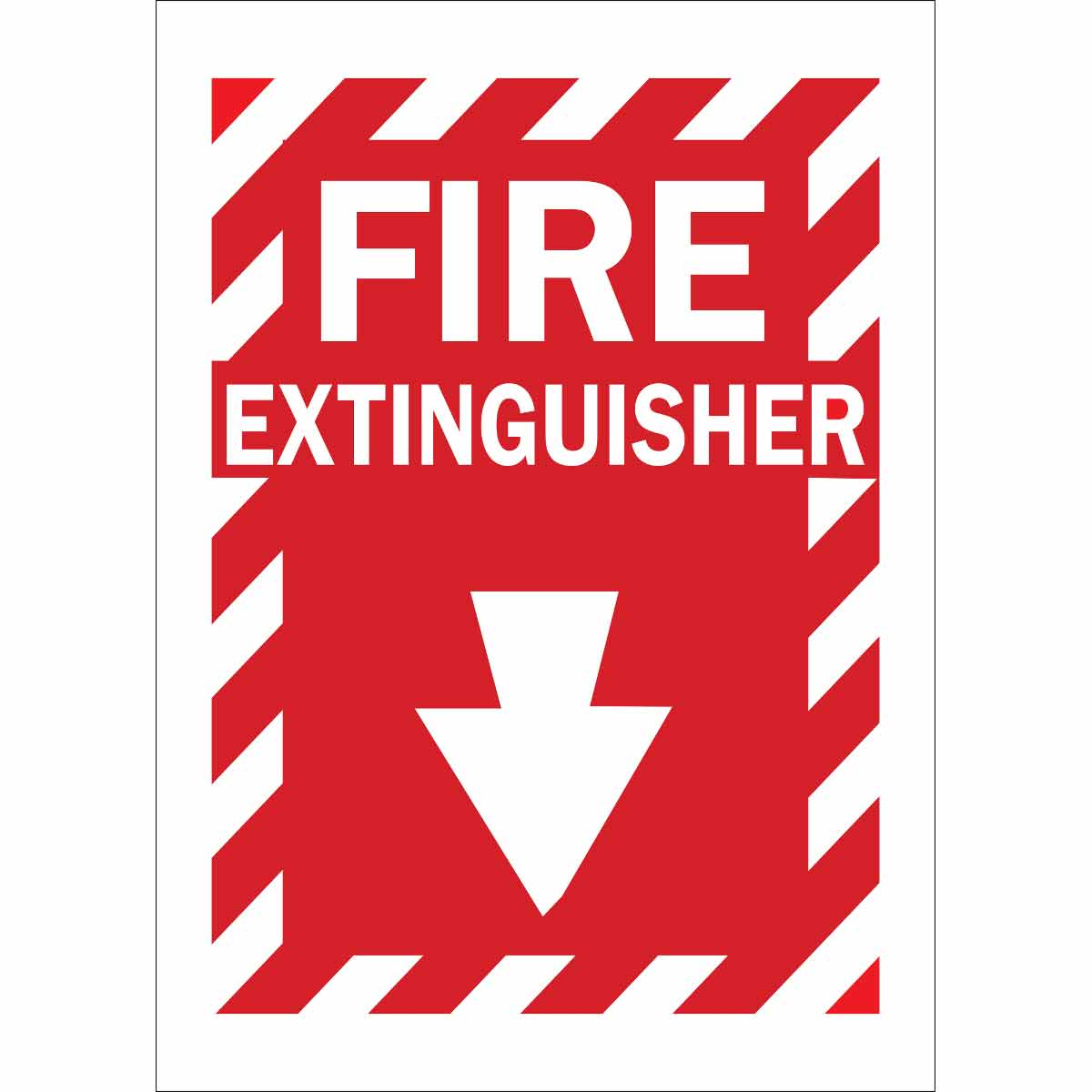 Brady® 69074 Rectangular Fire and Emergency Sign, 14 in H x 10 in W, White on Red, B-120 Fiberglass, Corner Holes Mount