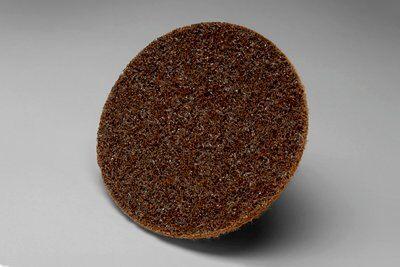 3M™ Roloc™ 048011-18082 SE-DR Non-Woven Surface Conditioning Disc With Plastic Button, 3 in Dia Disc, Coarse Grade, Aluminum Oxide Abrasive, Type TR Attachment