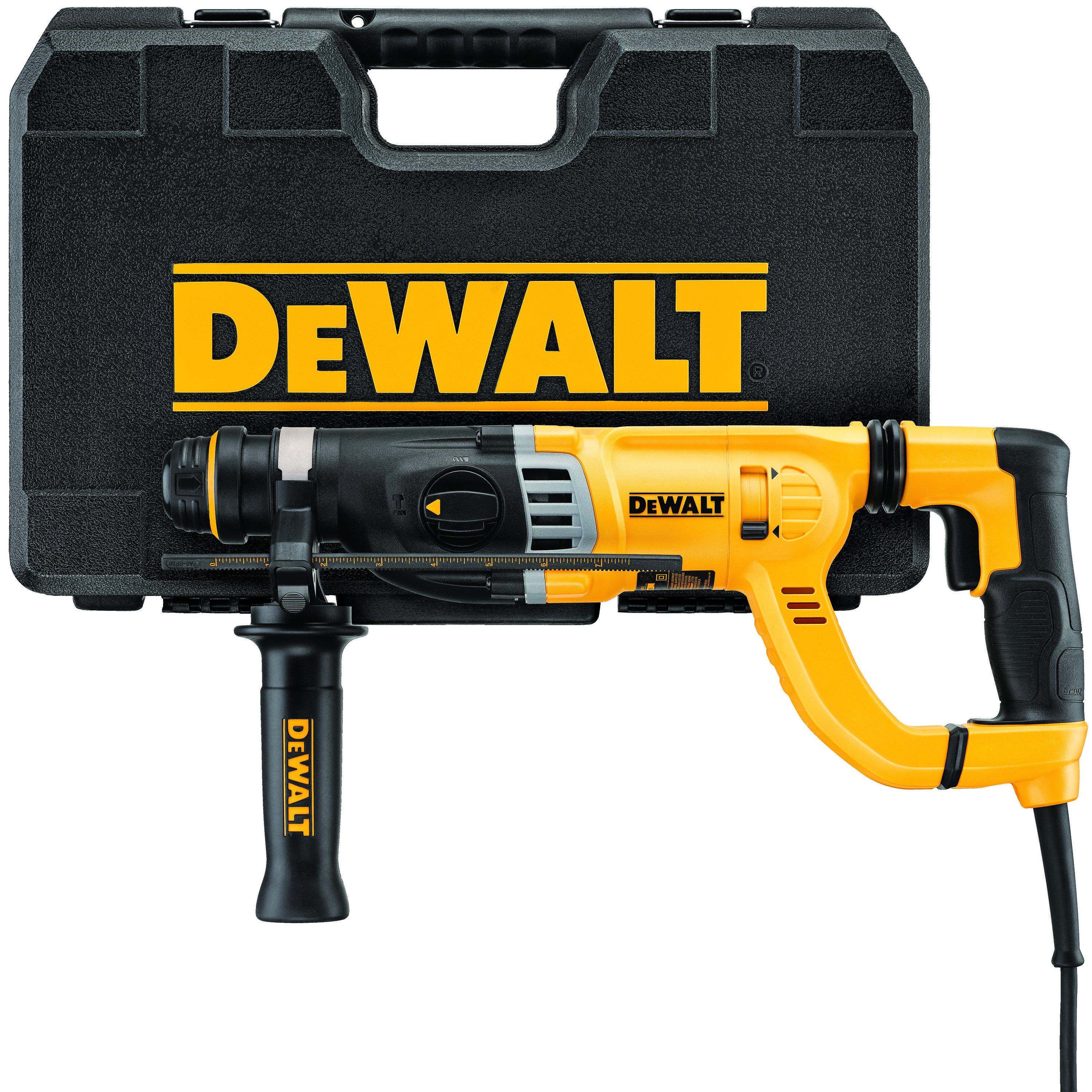 DeWALT® D25263K Corded Rotary Hammer Kit, 1-1/8 in SDS Plus® Chuck, 0 to 5350 bpm, 0 to 1450 rpm No-Load, 17-1/2 in OAL
