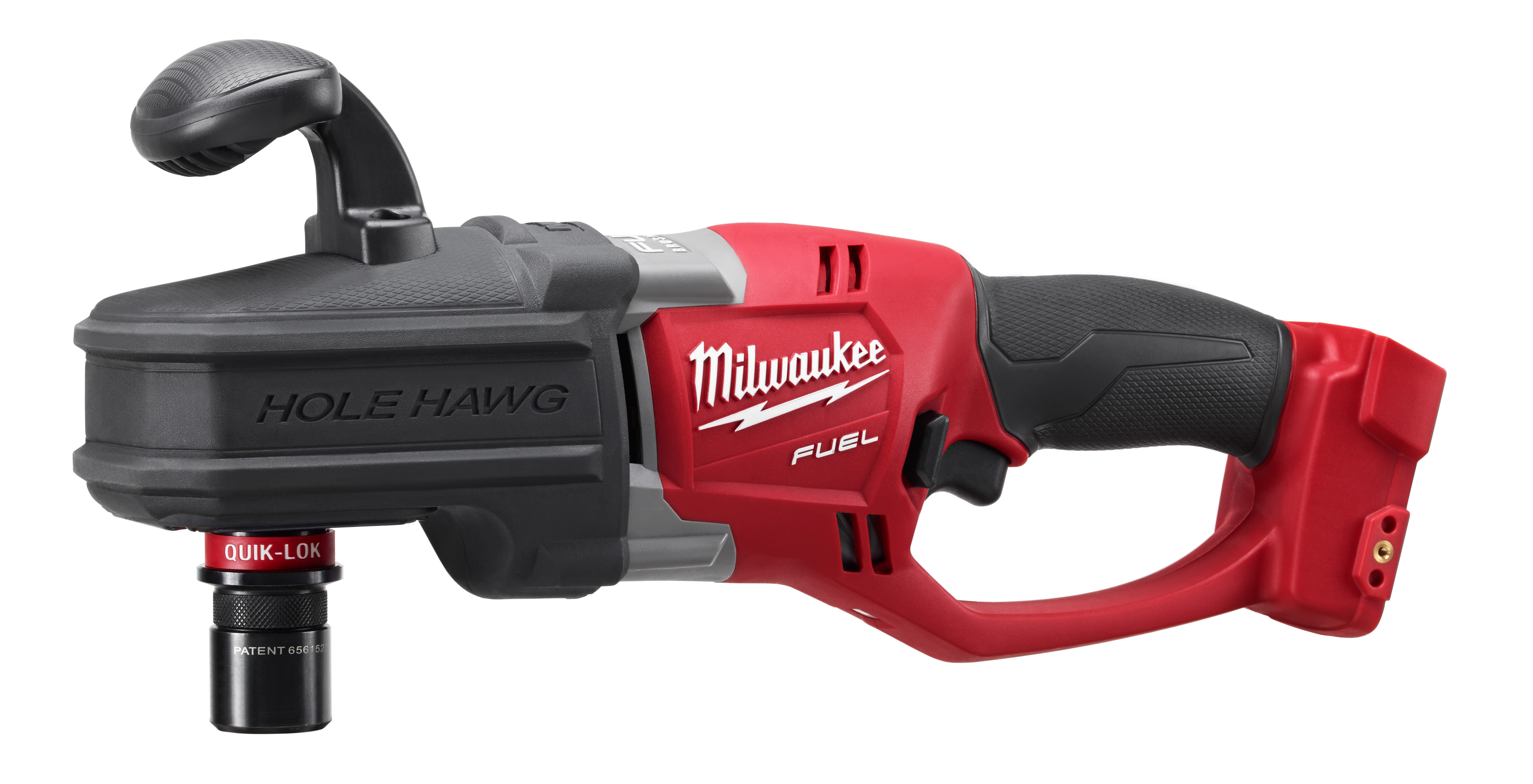 Milwaukee® M18™ FUEL™ 2708-20 HOLE HAWG® Cordless Right Angle Drill, 1/2 in QUIK-LOK™ Chuck, 18 VDC, 650 ft-lb Torque, 0 to 1200 rpm No-Load, 17 in OAL, Lithium-Ion Battery