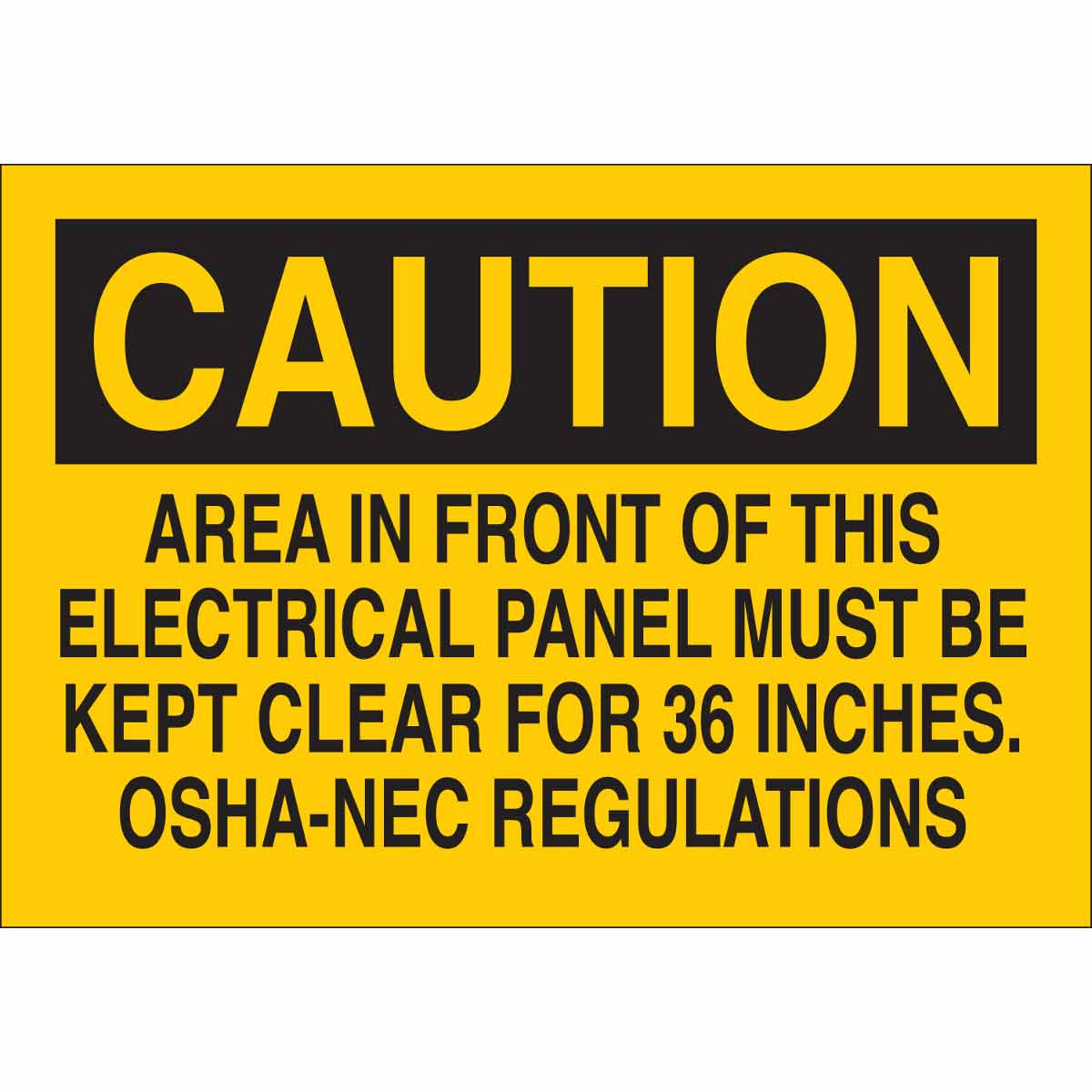 Brady® 84827 Rectangle Electrical Hazard Sign, CAUTION, 7 in H x 10 in W, Black on Yellow, B-302 Polyester, Surface Mounting