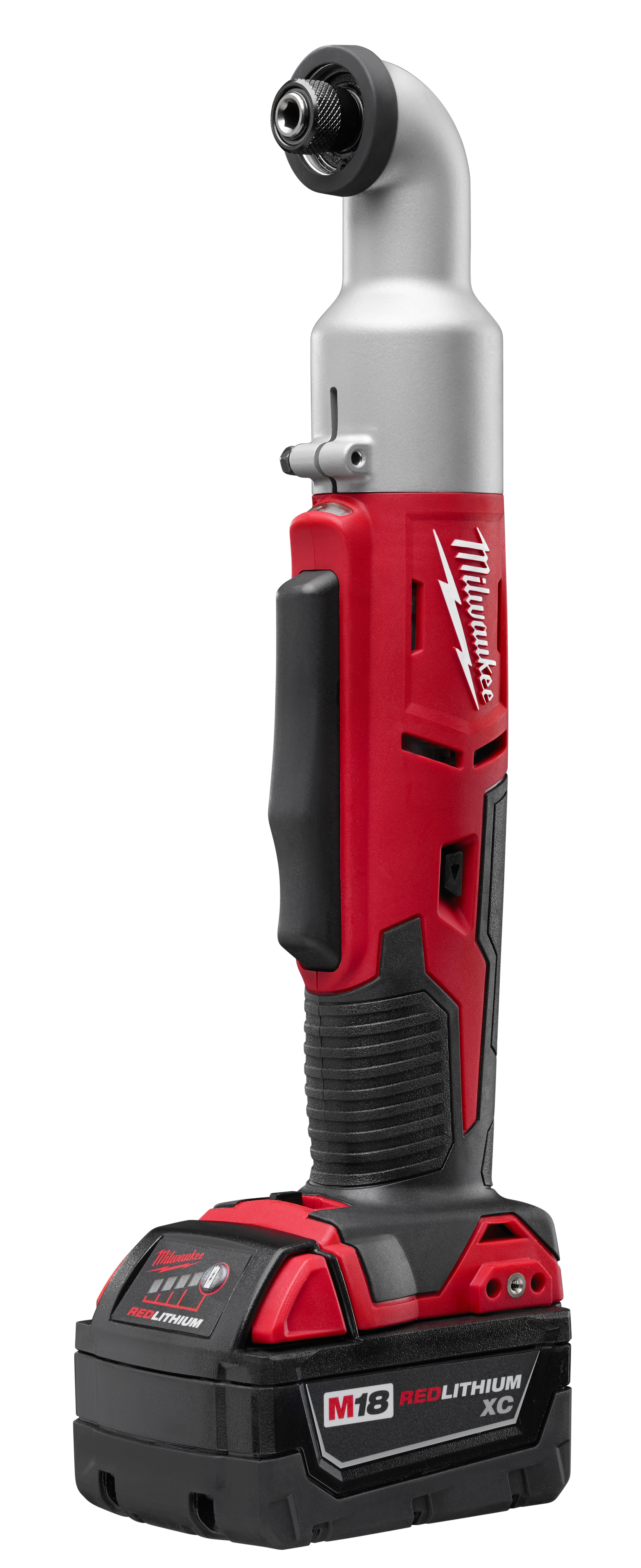 Milwaukee® M18™ 2667-22 2-Speed Compact Right Angle Cordless Impact Driver Kit, 1/4 in Hex Drive, 2400 bpm Mode 1, 3400 bpm Mode 2, 350 in-lb (Mode 1), 675 in-lb (Mode 2) Torque, 18 VAC, 14-1/8 in OAL
