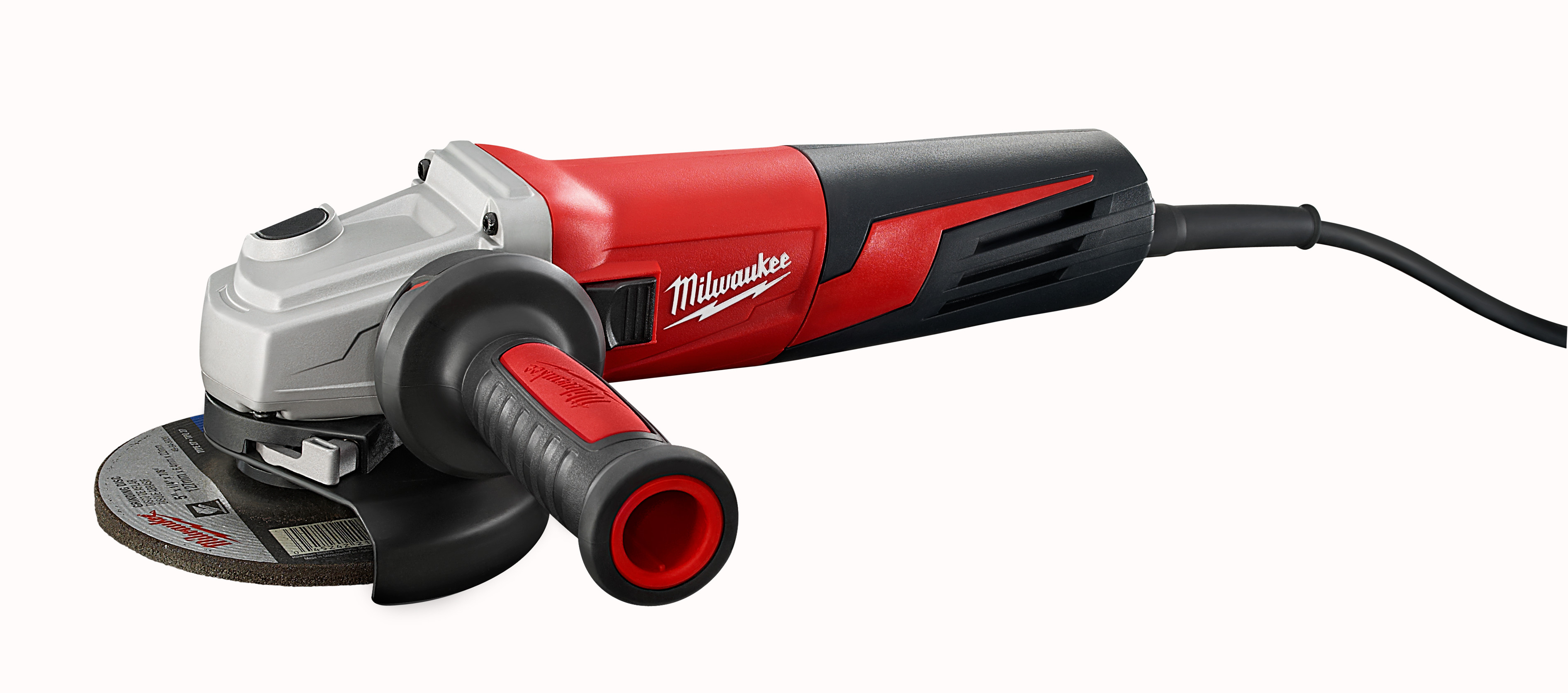 Milwaukee® 6117-33D Double Insulated Small Angle Grinder, 5 in Dia Wheel, 5/8-11 Arbor/Shank, 120 VAC, Black/Red
