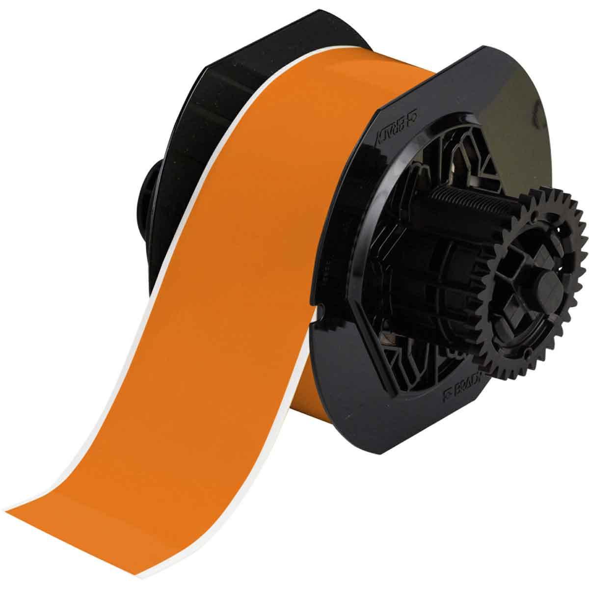 Brady® B30C-2250-595-OR Vinyl Tape, 2-1/4 in W, Orange, Vinyl Film