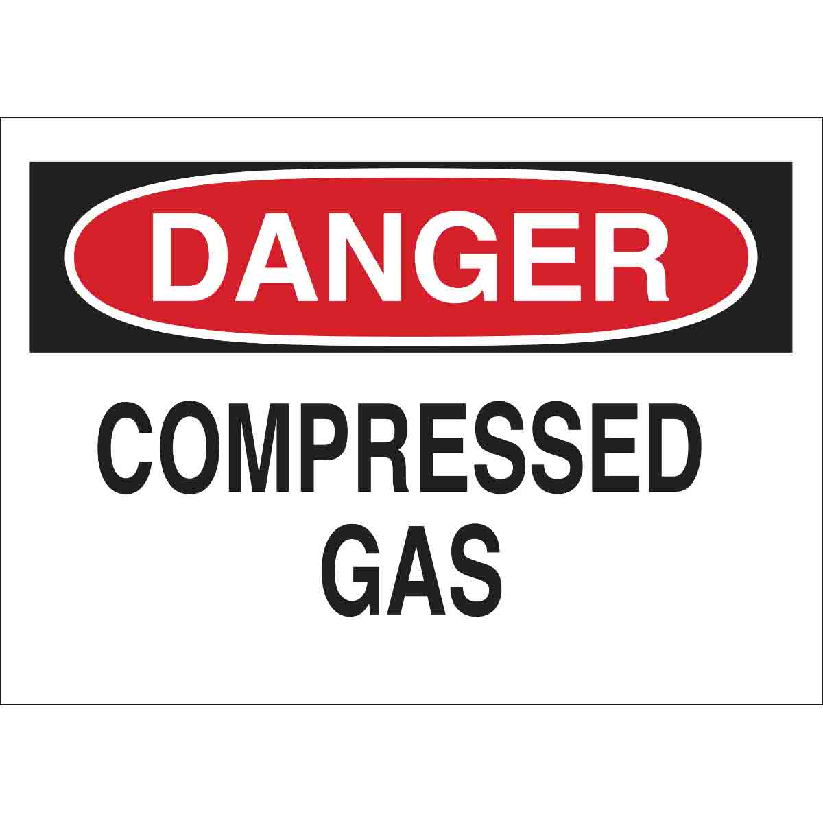 Brady® 22321 Rectangular Chemical and Hazardous Material Sign, Text, B-401 Polystyrene, Corner Holes Mount, 7 in H x 10 in W, English