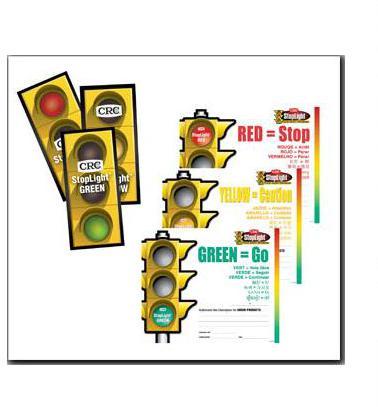 CRC® 19004 Adhesive Safety Sticker, Green