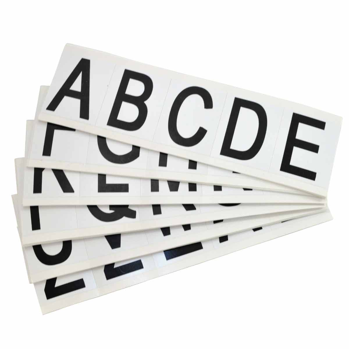 Brady® 97712 9714 Consecutive High Quality Standard Letter Label Kit, Black A to Z Character, 1-15/16 in H x 3/4 in W, White Background, B-946 Vinyl