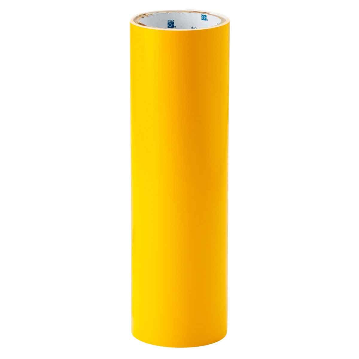 Brady® 121119 Non-Reflective Shadow Board Tool Tape, 12 ft L x 12 in W, Yellow, B-7569 Vinyl Film
