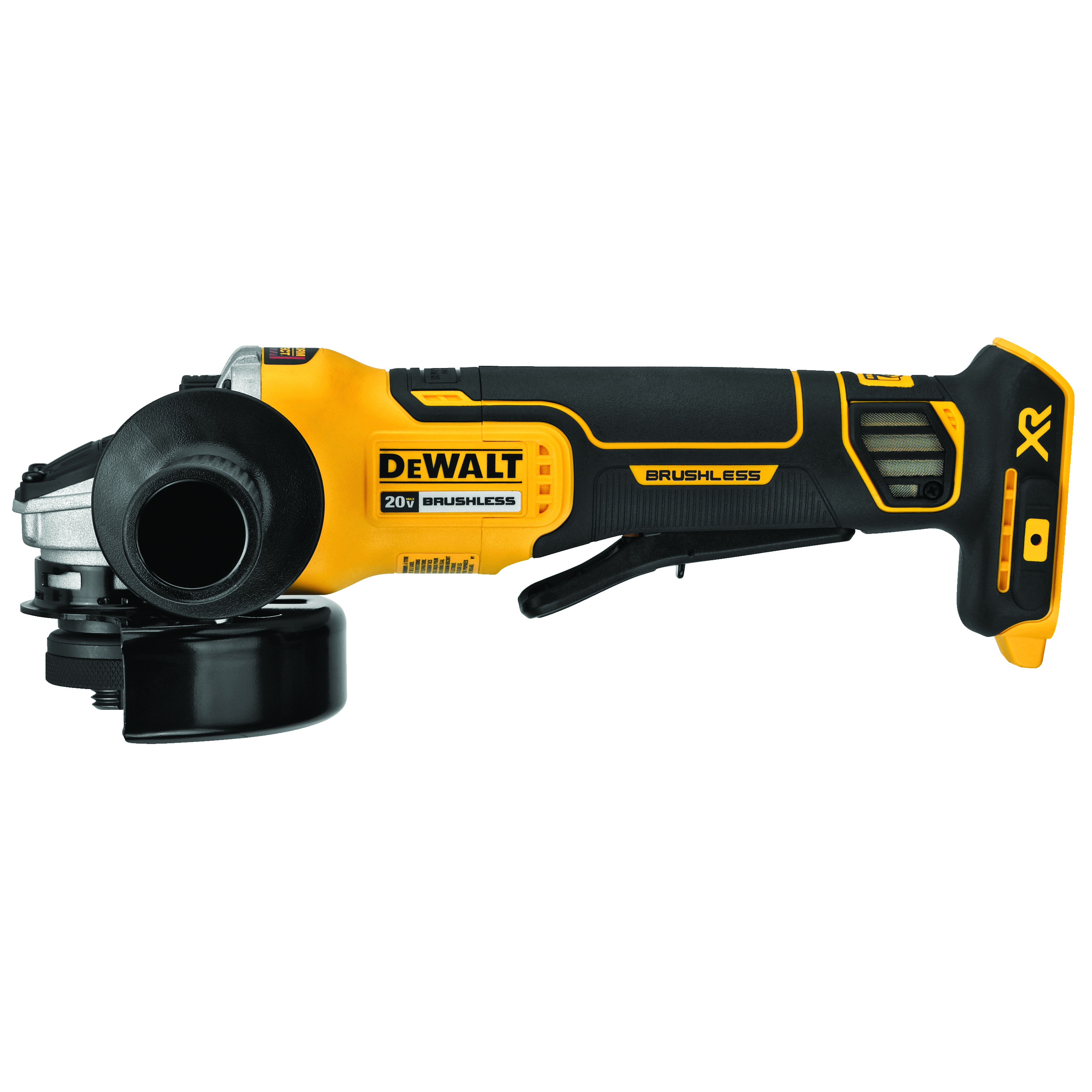 DeWALT® DCG413B Small Cordless Angle Grinder With Kickback Brake, 4-1/2 in Dia Wheel, 20 VDC, Lithium-Ion Battery, Paddle Switch