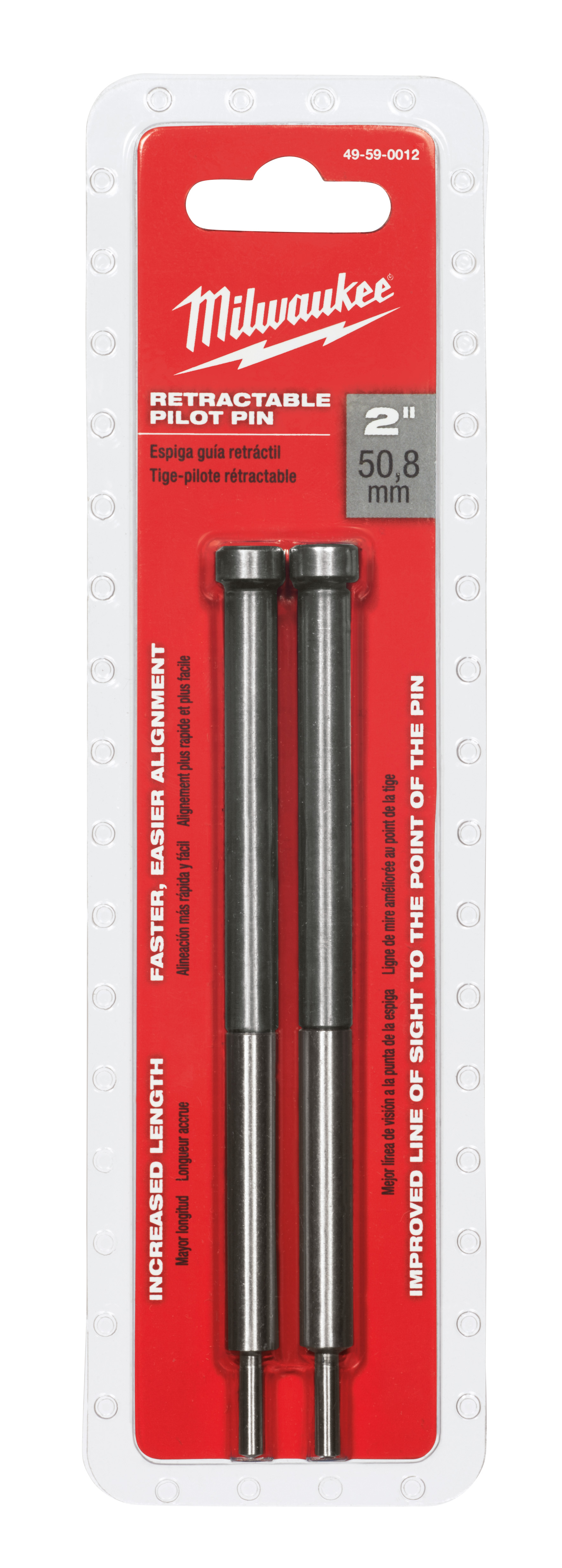 Milwaukee® 49-59-0012 Retractable Pilot Pin, For Use With Annular Cutter with 1 in Cutting Depth