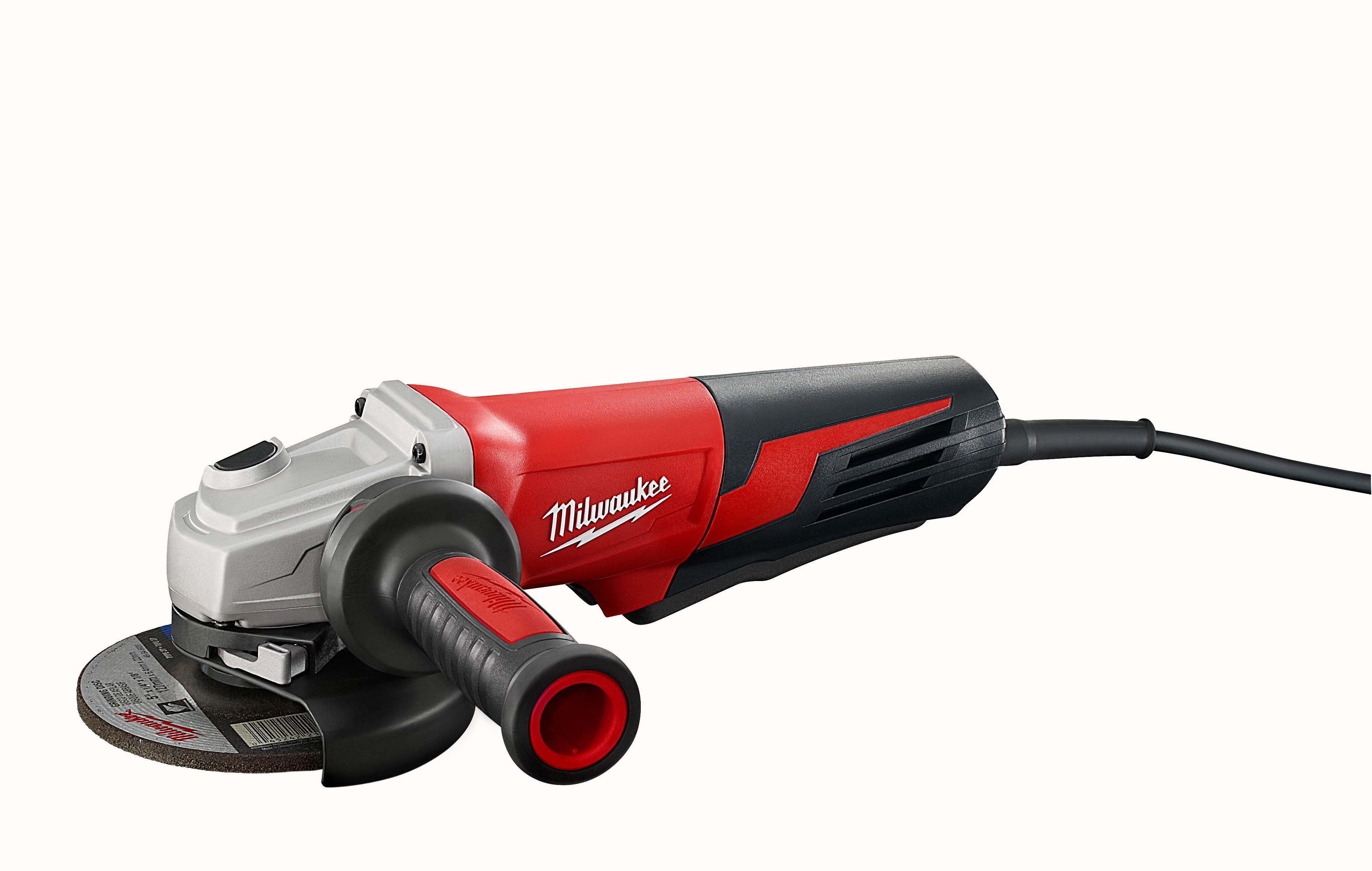 Milwaukee® 6117-30 Double Insulated Small Angle Grinder, 5 in Dia Wheel, 5/8-11 Arbor/Shank, 120 VAC, Black/Red