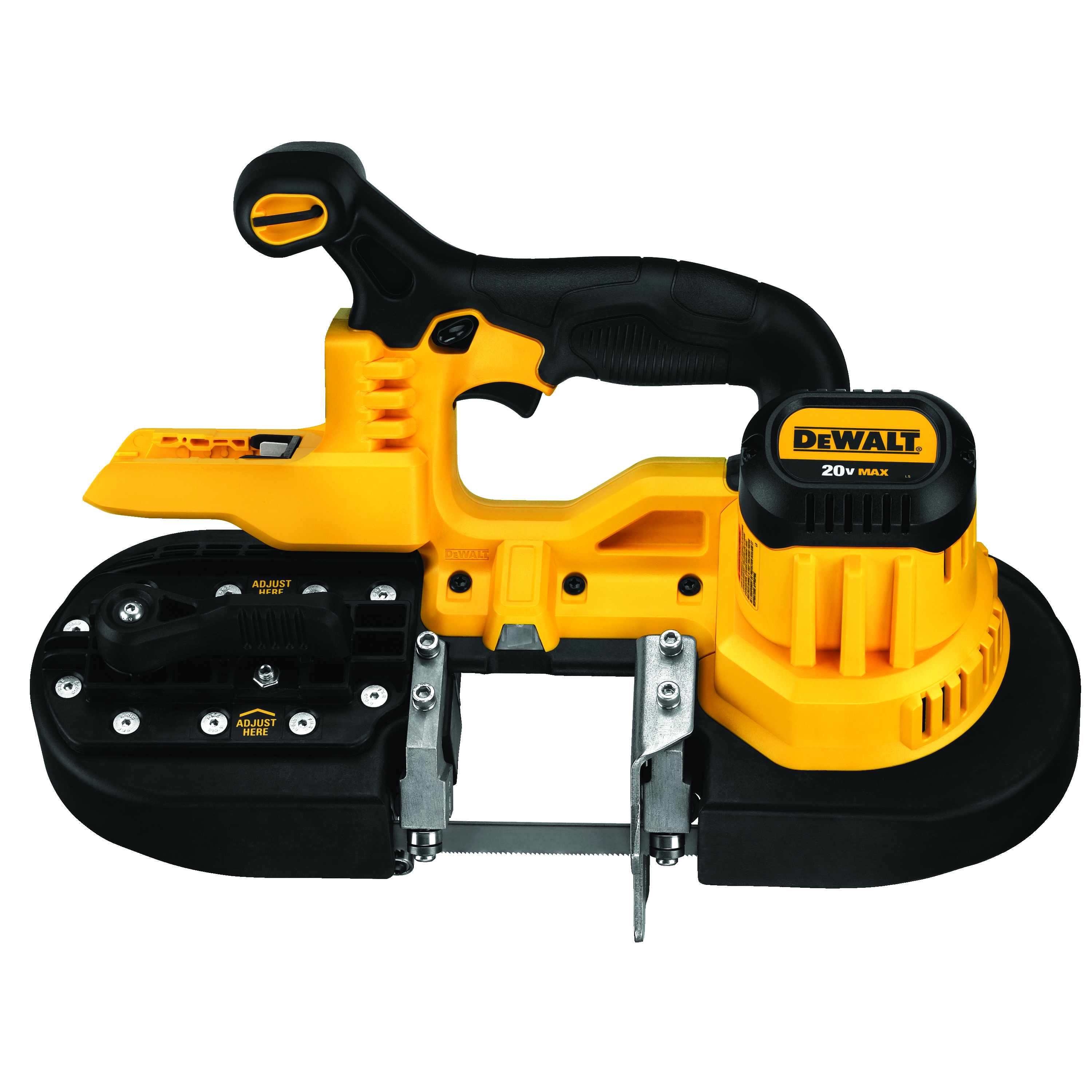 DeWALT® DCS371B Portable Cordless Band Saw, 2-1/2 in Cutting, 32-7/8 in L Blade, 20 VDC, Lithium-Ion Battery, Tool Only