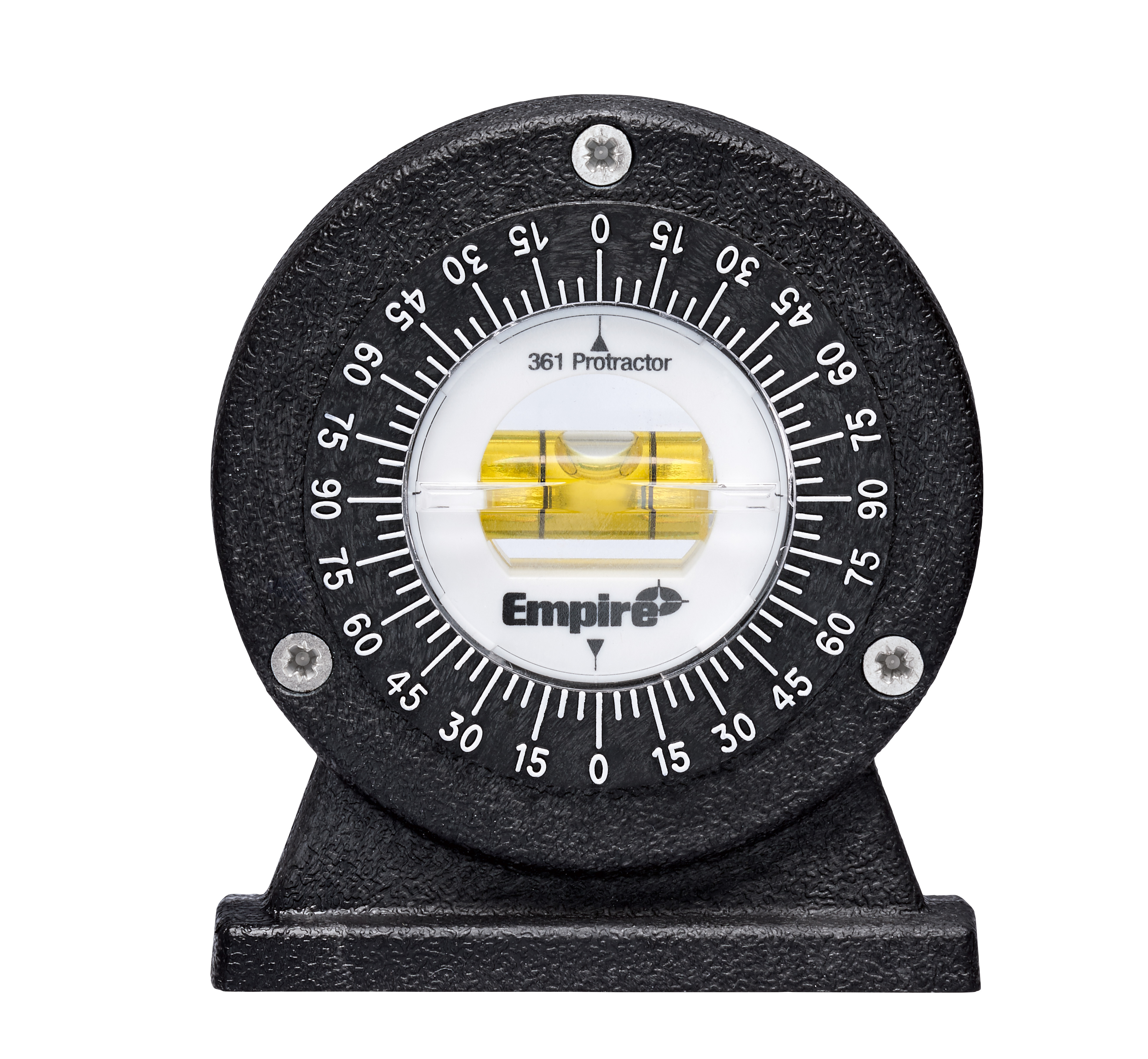 Milwaukee® 361 Magnetic Small Protractor, 4-1/4 in L, Graduations 5 deg, Polycast®