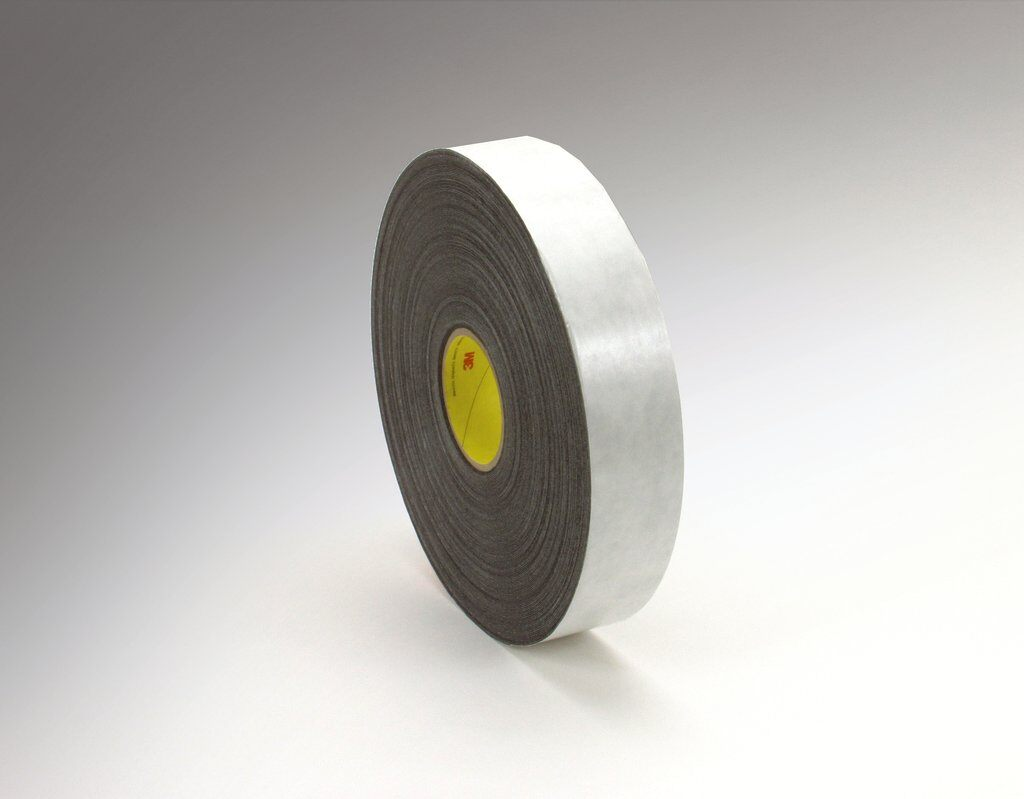 3M™ 4462 Double Coated Tape, 72 yd L x 1 in W, 31 mil THK, Rubber Adhesive, Polyethylene Foam Backing, Black