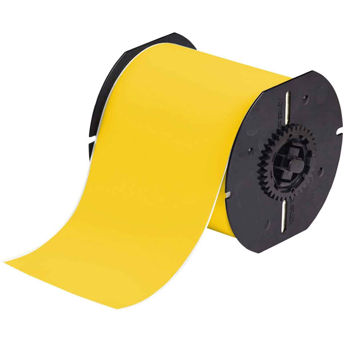 Brady® B30C-2250-595-YL Vinyl Tape, 2-1/4 in W, Yellow, Vinyl Film