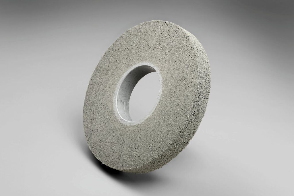 3M™ 05135 EXL High Performance Deburring Wheel, 8 in Dia Wheel, 3 in Center Hole, 1 in W Face, Fine Grade, Silicon Carbide Abrasive