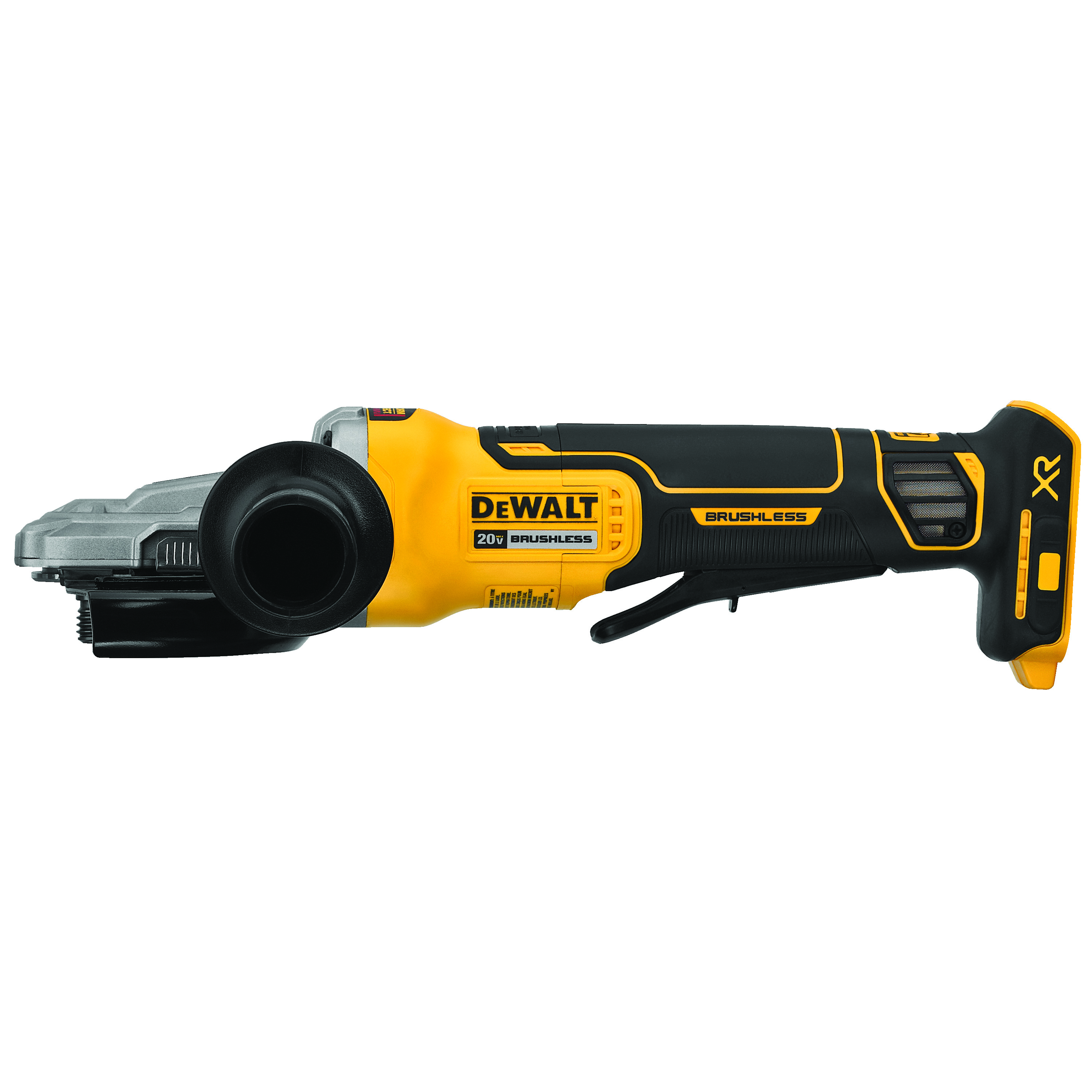 DeWALT® DCG413FB Small Cordless Angle Grinder With Kickback Brake, 5 in Dia Wheel, 20 VDC, Lithium-Ion Battery, Flathead Paddle Switch