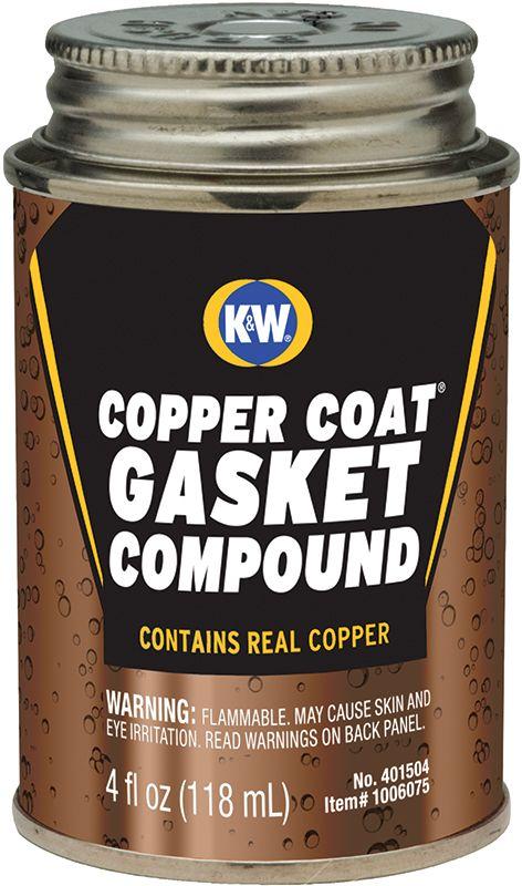 CRC® K&W® 401504 Copper-Coat® Wet Film Flammable Gasket Compound, 4 fl-oz Bottle