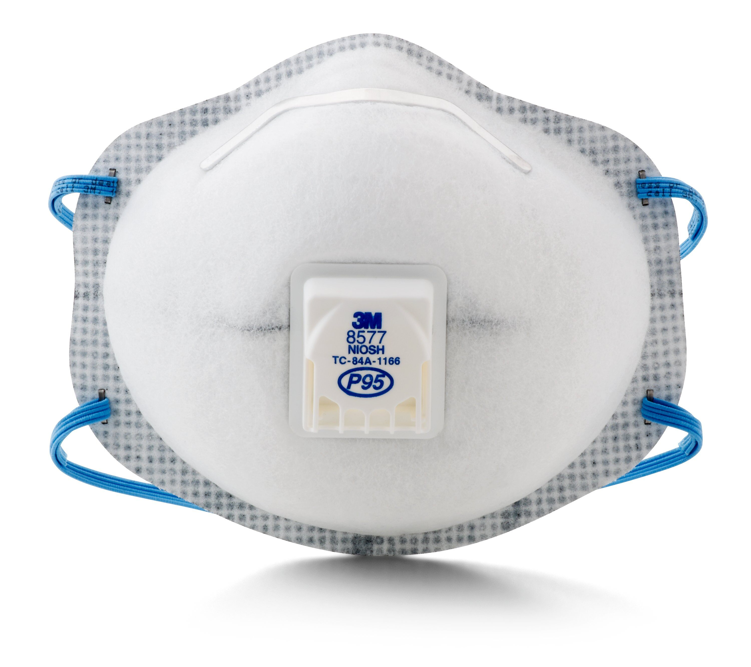 3M™ 8577 Standard Particulate Respirator With Nuisance Level Organic Vapor Relief, Resists: Oil and Non-Oil Based Particles
