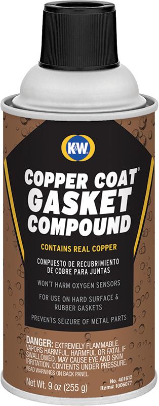 CRC® K&W® 401612 Copper-Coat® High Temperature Gasket Compound, 9 oz Aerosol Can