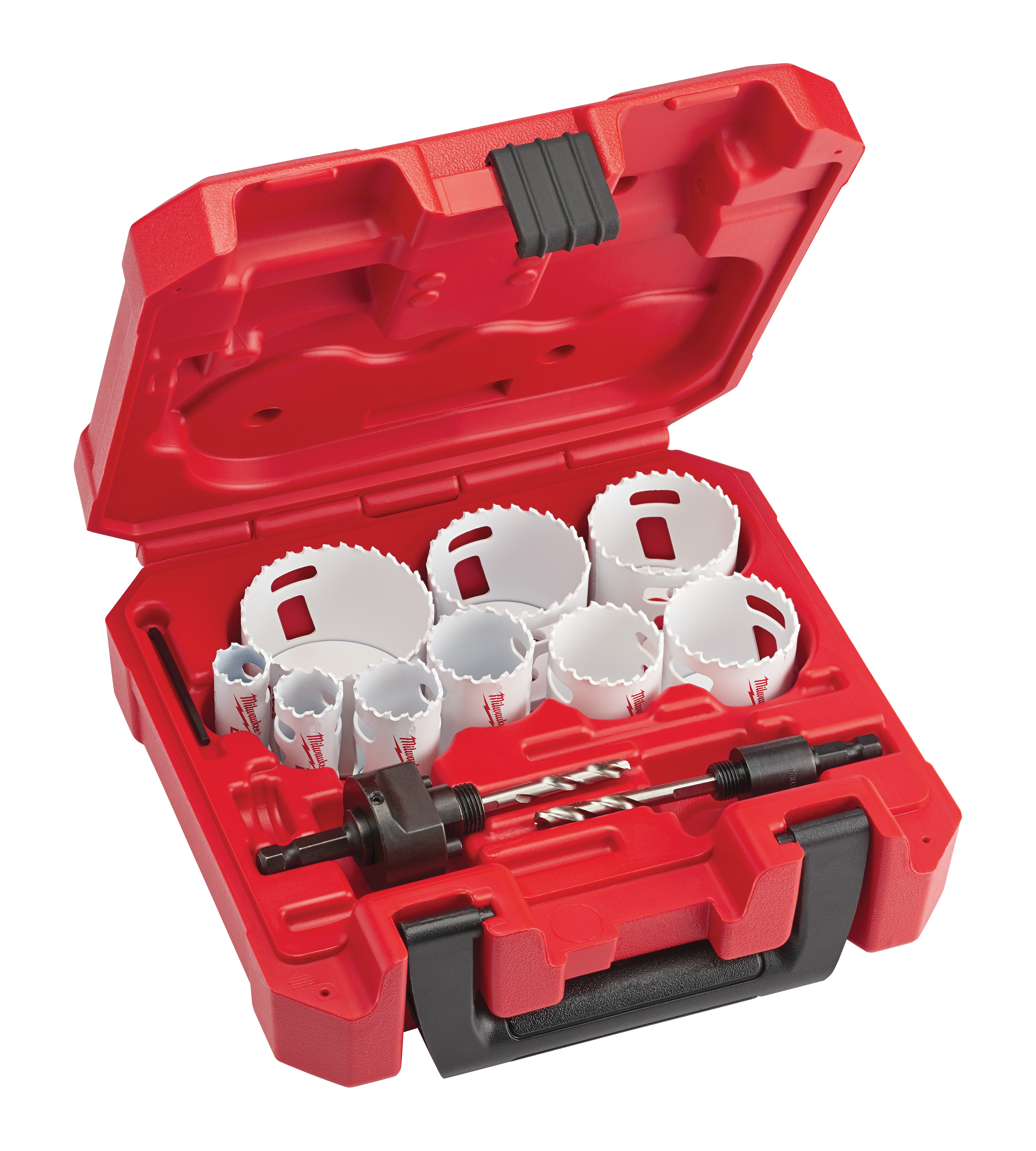 Milwaukee® 49-22-4025 Hole Dozer™ General Purpose Hole Saw Kit, 13 Pieces, For Use With 49-56-7210, 49-56-7240, 49-56-7250 and 49-56-9100 Quick-Change Arbor, Bi-Metal/HSS