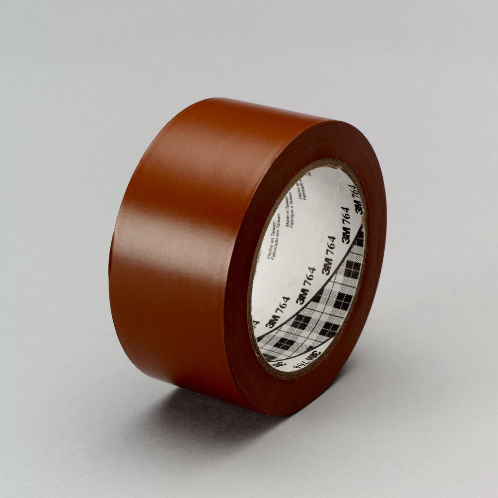 "3M™ 764-2""x36yd-Brown General Purpose Vinyl Tape, 36 yd L x 2 in W, 5 mil THK, Rubber Adhesive, PVC Backing, Brown"
