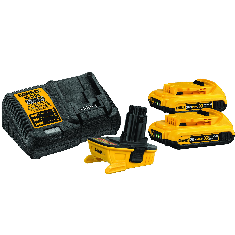 DeWALT® 20V MAX* MATRIX™ DCA2203C Slide, 2 Ah Lithium-Ion Battery, 20 VDC Charge, For Use With DeWALT® 18 V MAX Tools, DCB201 and DCB203 Compact Batteries