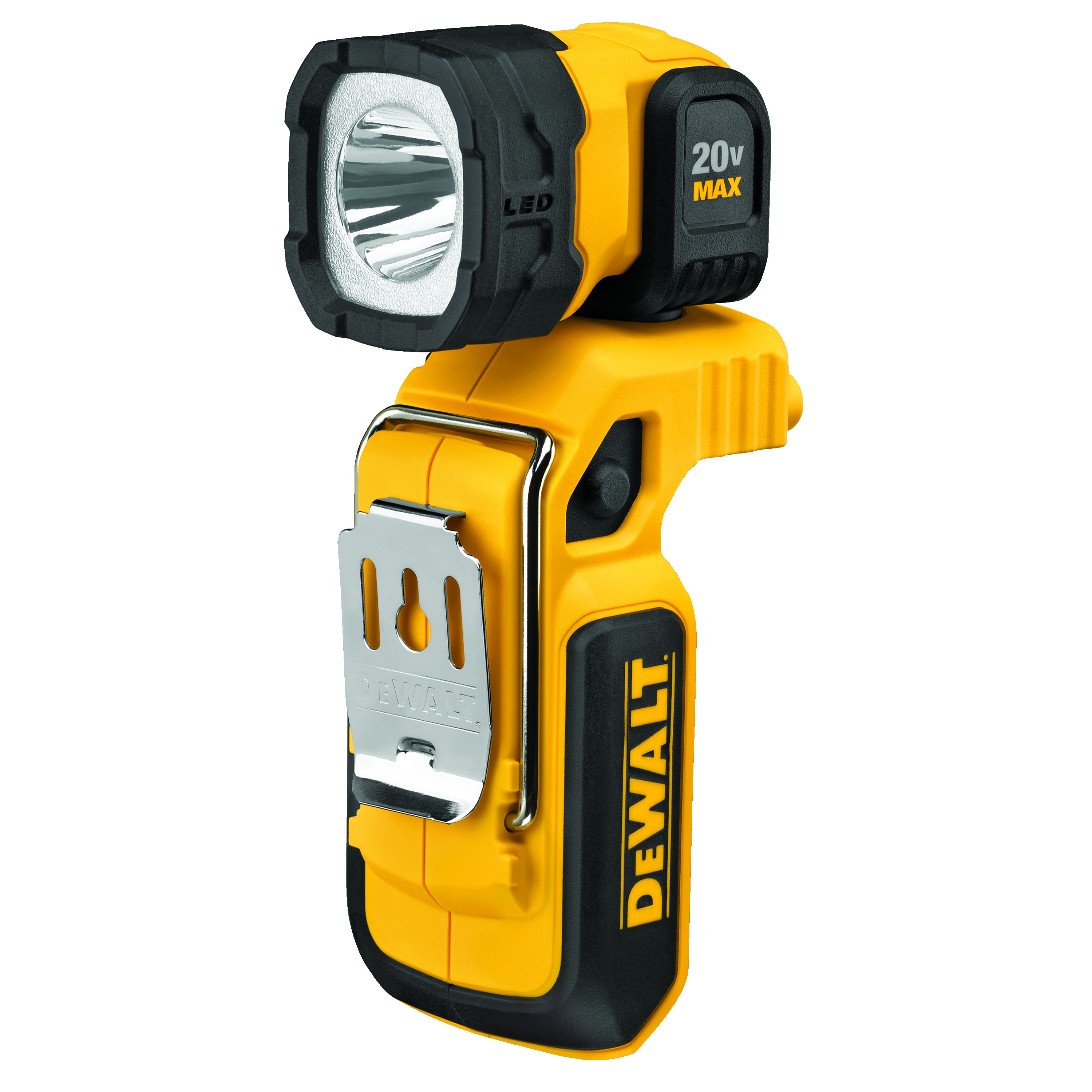 DeWALT® 20V MAX* MATRIX™ DCL044 Cordless Fixed Focus Portable Rechargeable Handheld Woklight, LED Lamp, 20 V, Lithium-Ion Battery, Tool Only