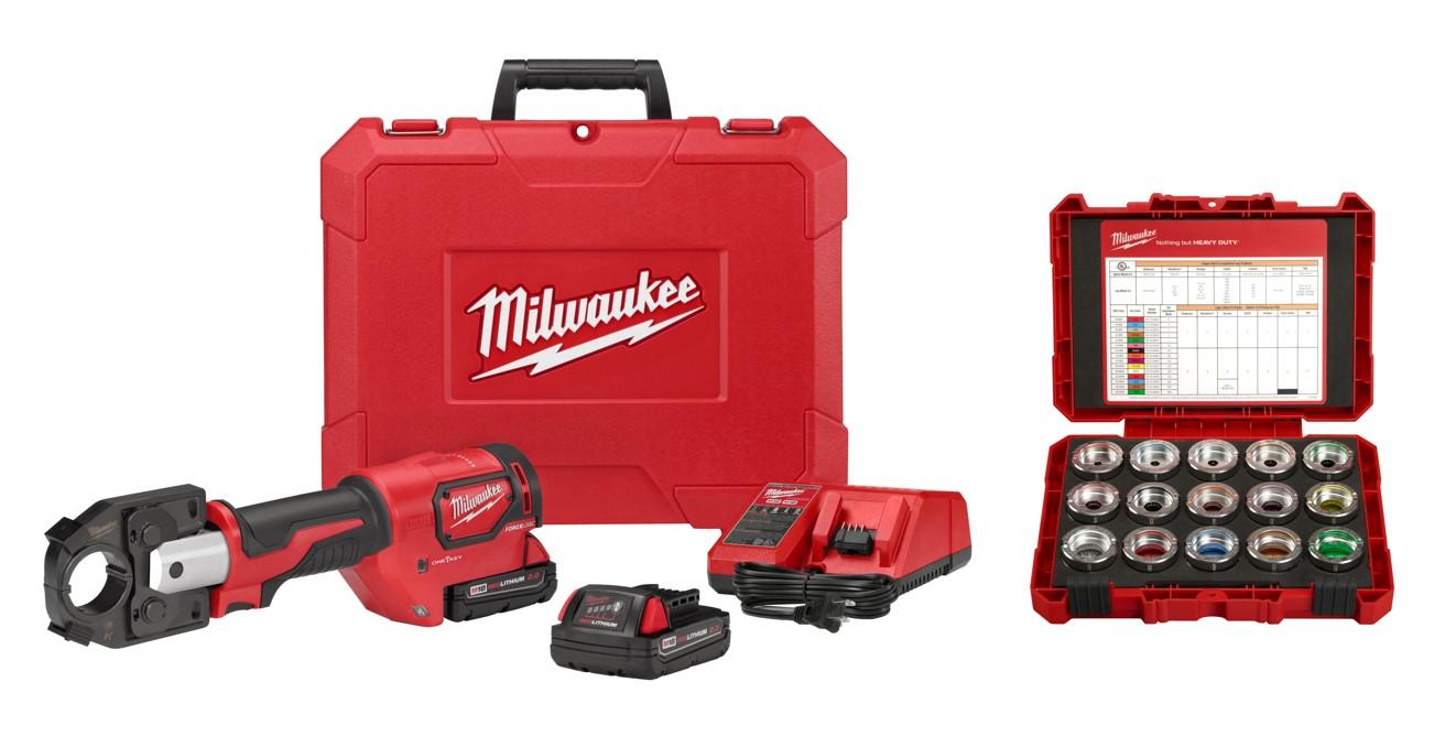Milwaukee® M18™ FORCELOGIC™ 2679-KITC Cordless Crimper Kit, 12 ton Crimping, 18 VDC, M18™ Lithium-Ion Battery, 14 in OAL