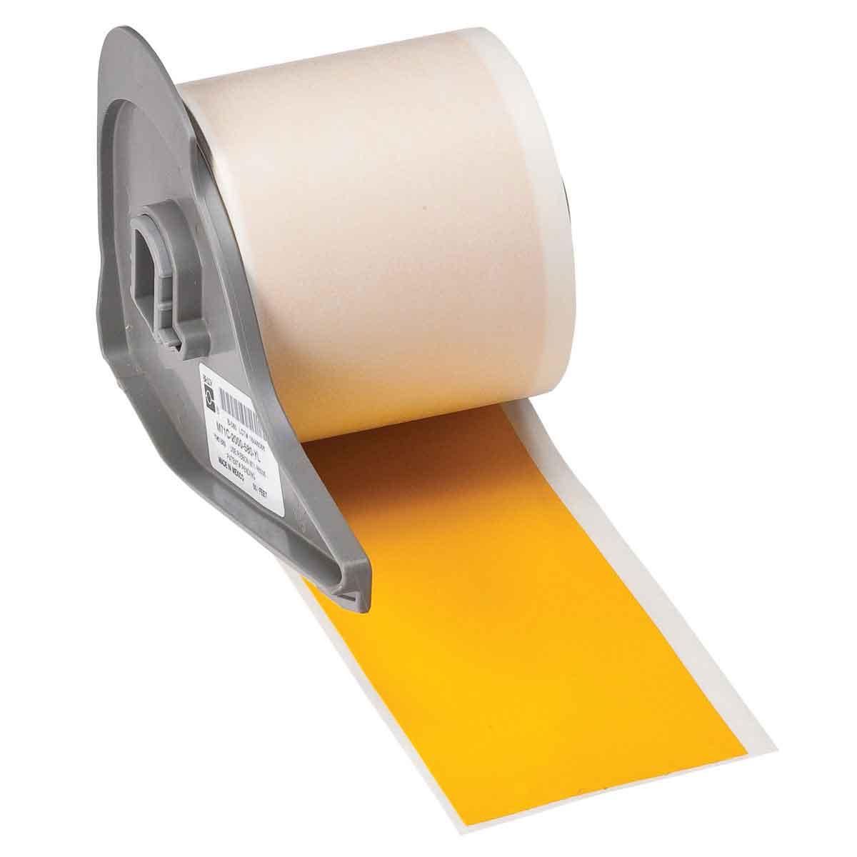 Brady® M71C-2000-595-YL Blank Thermal Transfer Tape, 50 ft L x 2 in W, Yellow, B-595 Vinyl, Permanent Acrylic Adhesive, -40 to 180 deg F