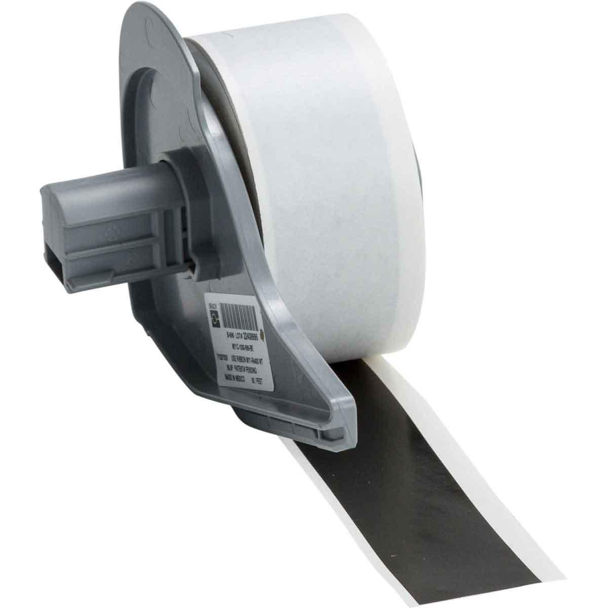 Brady® M71C-1000-595-BK Blank Thermal Transfer Tape, 50 ft L x 1 in W, Black, B-595 Vinyl, Permanent Acrylic Adhesive, -40 to 180 deg F