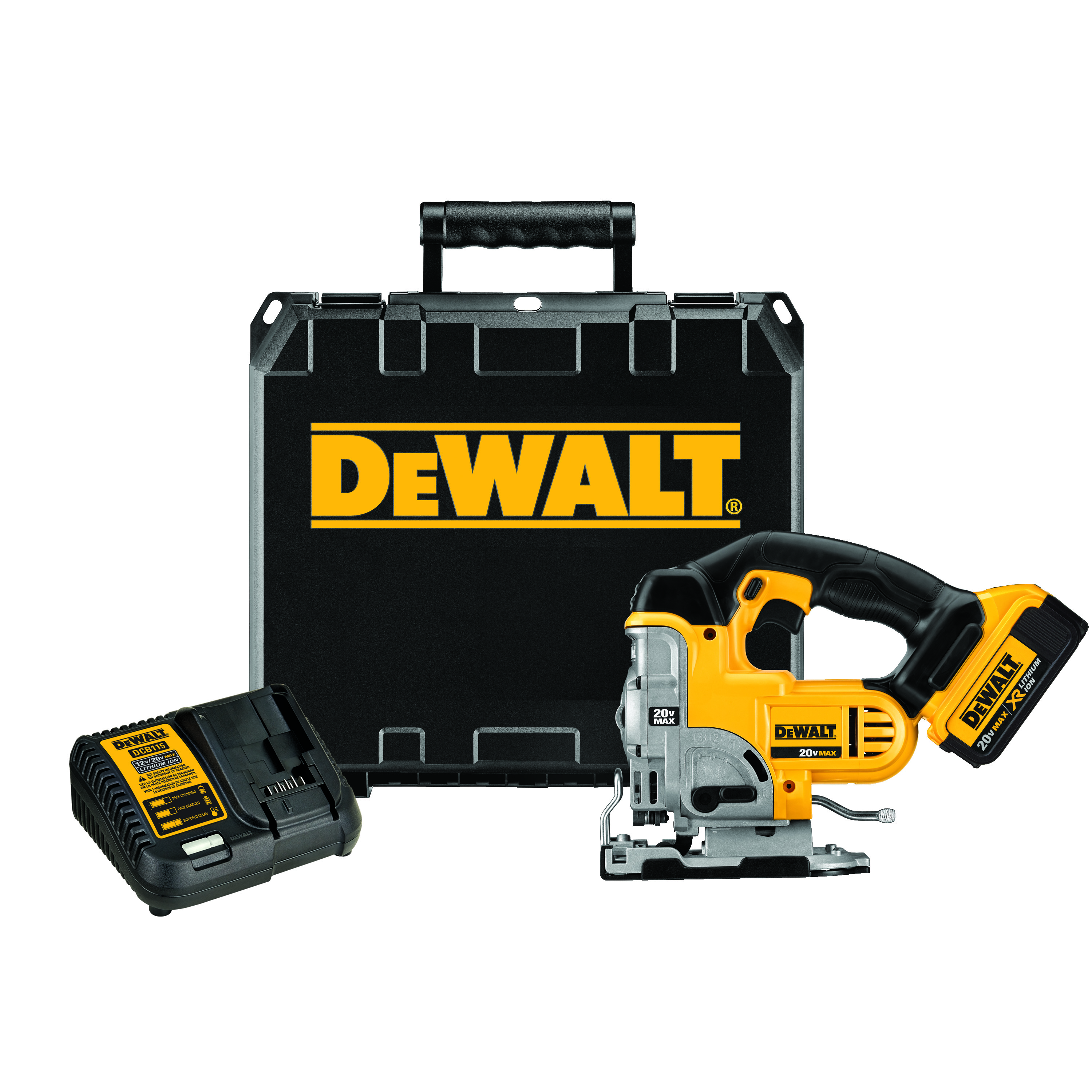 DeWALT® DCS331M1 Cordless Jig Saw Kit, 20 VDC, For Blade Shank: T-Shank, 12 in OAL, Lithium-Ion Battery
