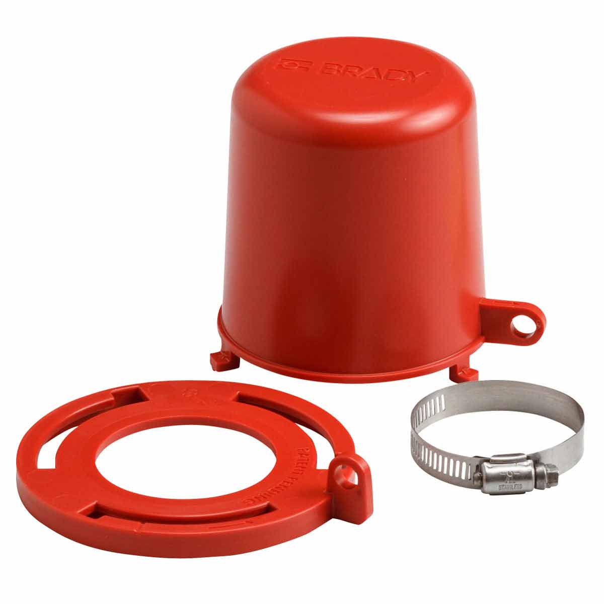 Brady® 113234 Plug Valve Lockout, Fits Minimum Handle Size: 2-3/16 in, Fits Maximum Handle Size: 2-1/2 in, 1 Padlocks, 0 deg F Min, 175 deg F max