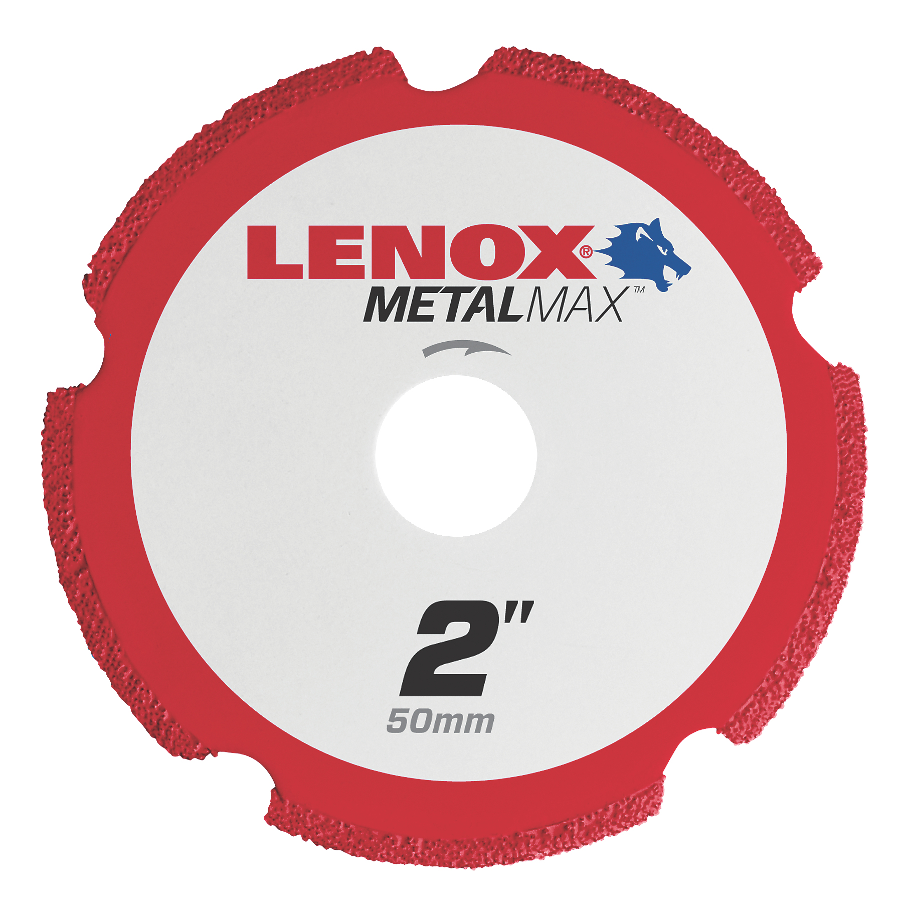LENOX® TOOLS METALMAX™ 1972917 METALMAX™ Type 1 Cut-Off Wheel, 2 in Dia x 0.05 in THK, 3/8 in Center Hole, 40/50 Grit, Diamond Abrasive